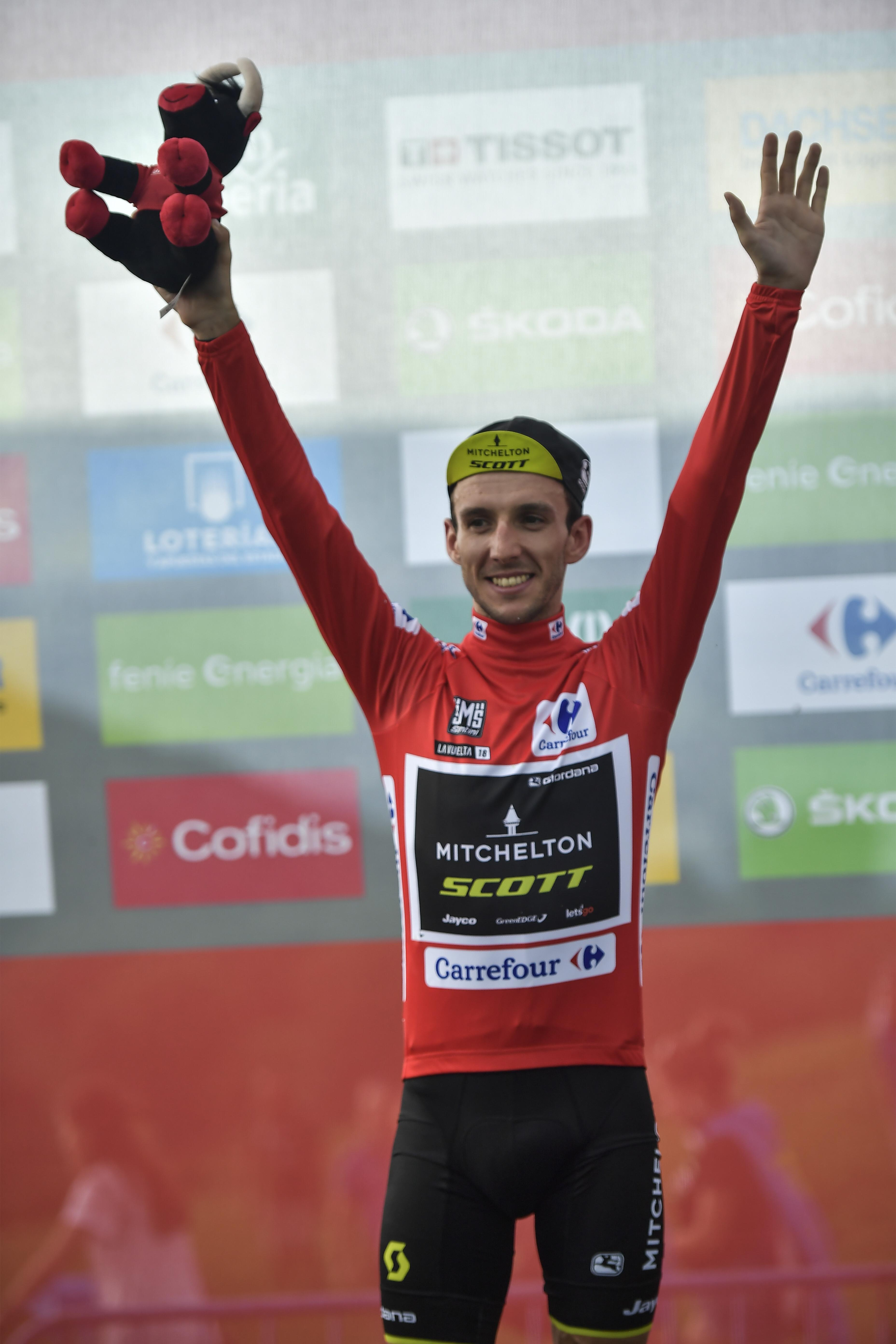 Simon Yates reclaimed the leader's jersey at the Vuelta a Espana