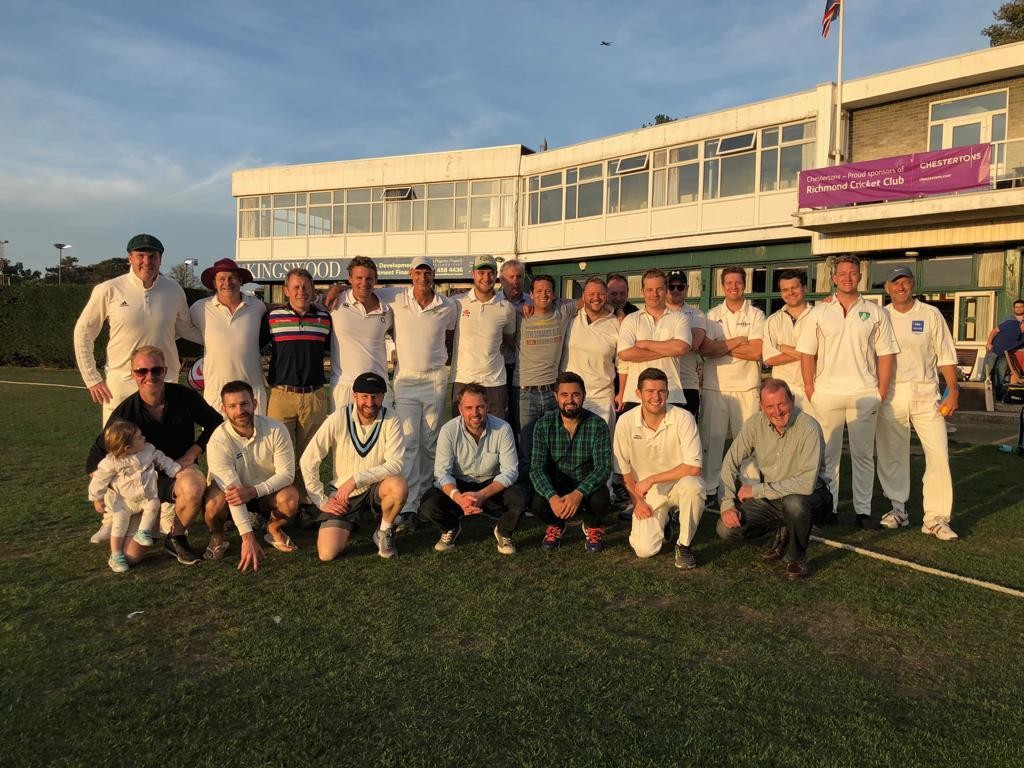 The Rugby Union Writers' Club and RFU at the end of another historic match in Richmond