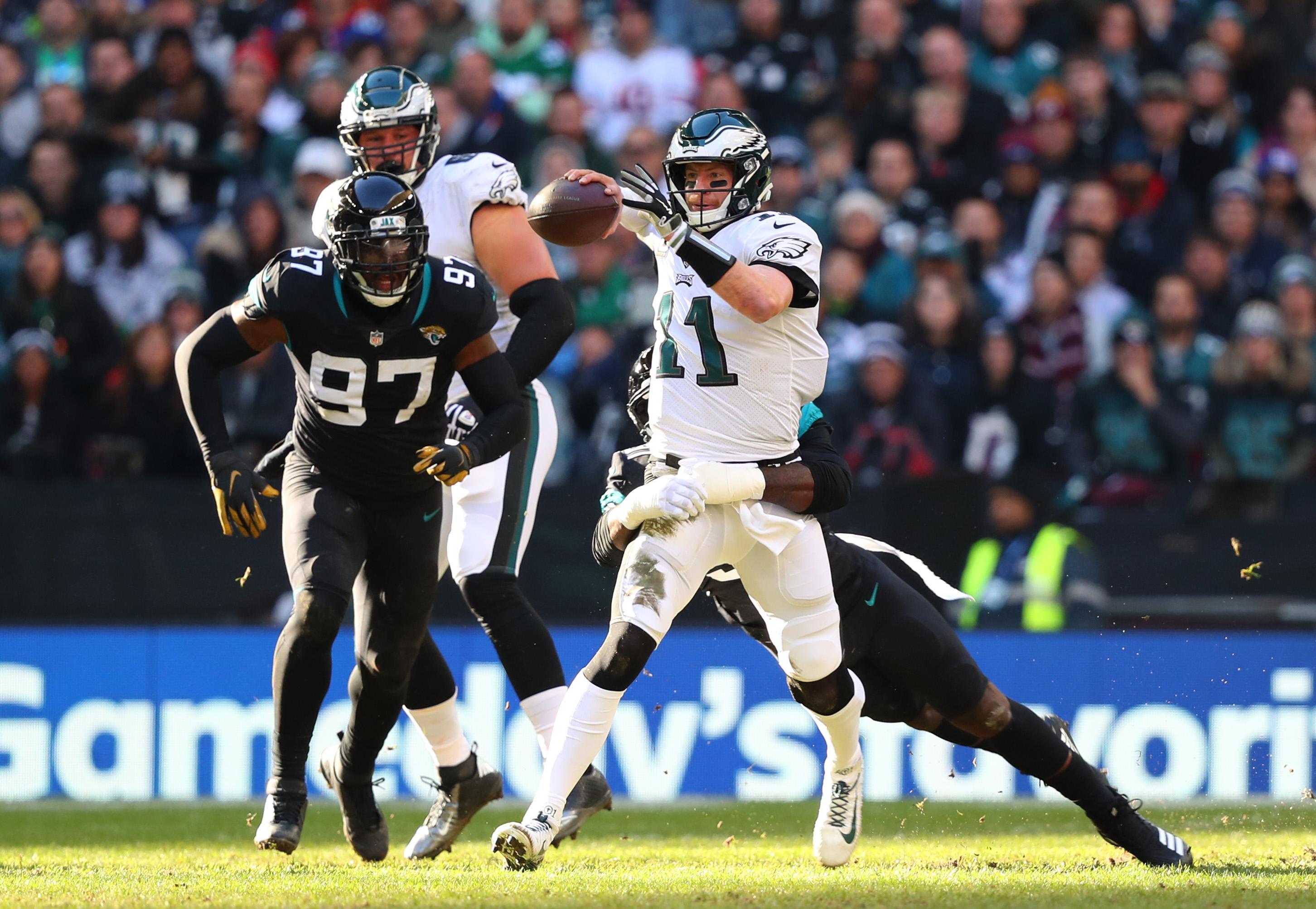 Philadelphia Eagles beat Jacksonville Jaguars 24-18 at Wembley on Sunday