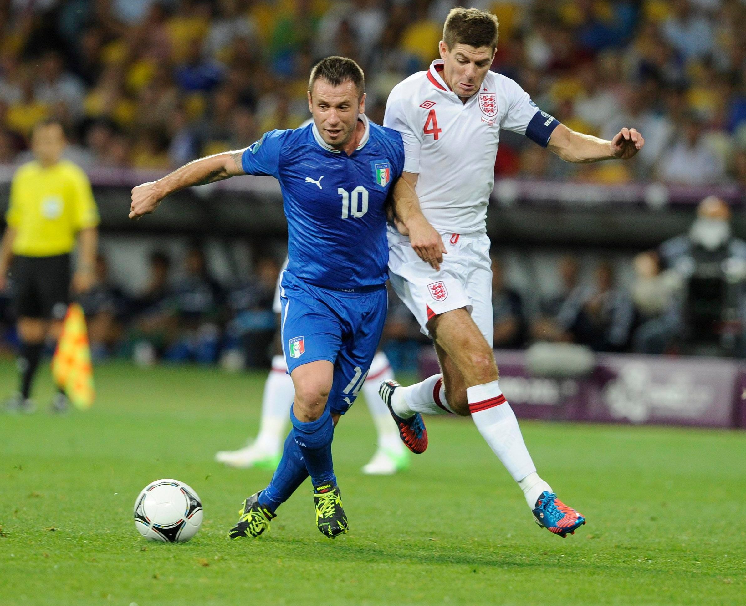 Antonio Cassano played 39 times for Italy