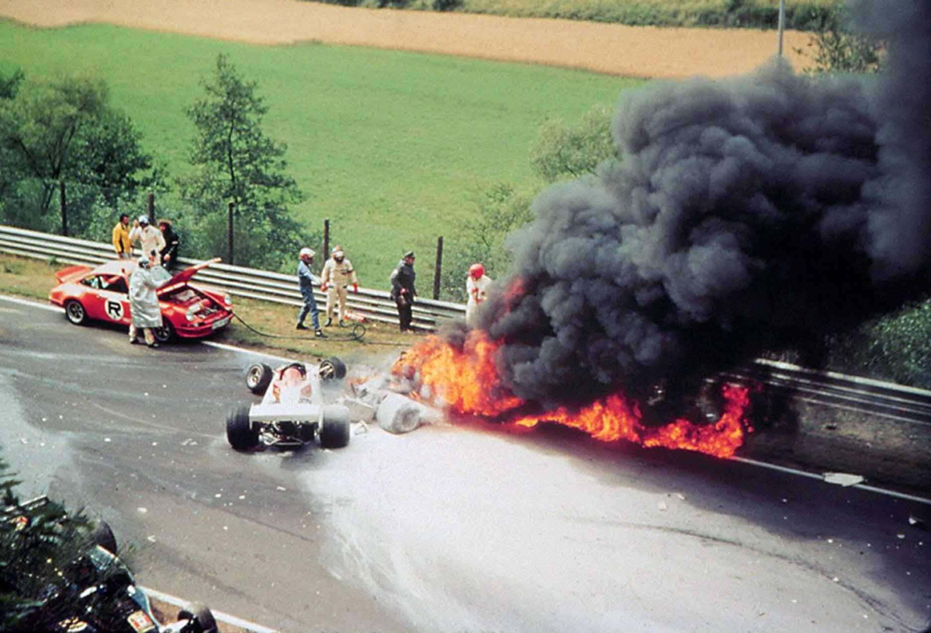 Edwards dragged Lauda from his Ferrari after it caught fire in Germany