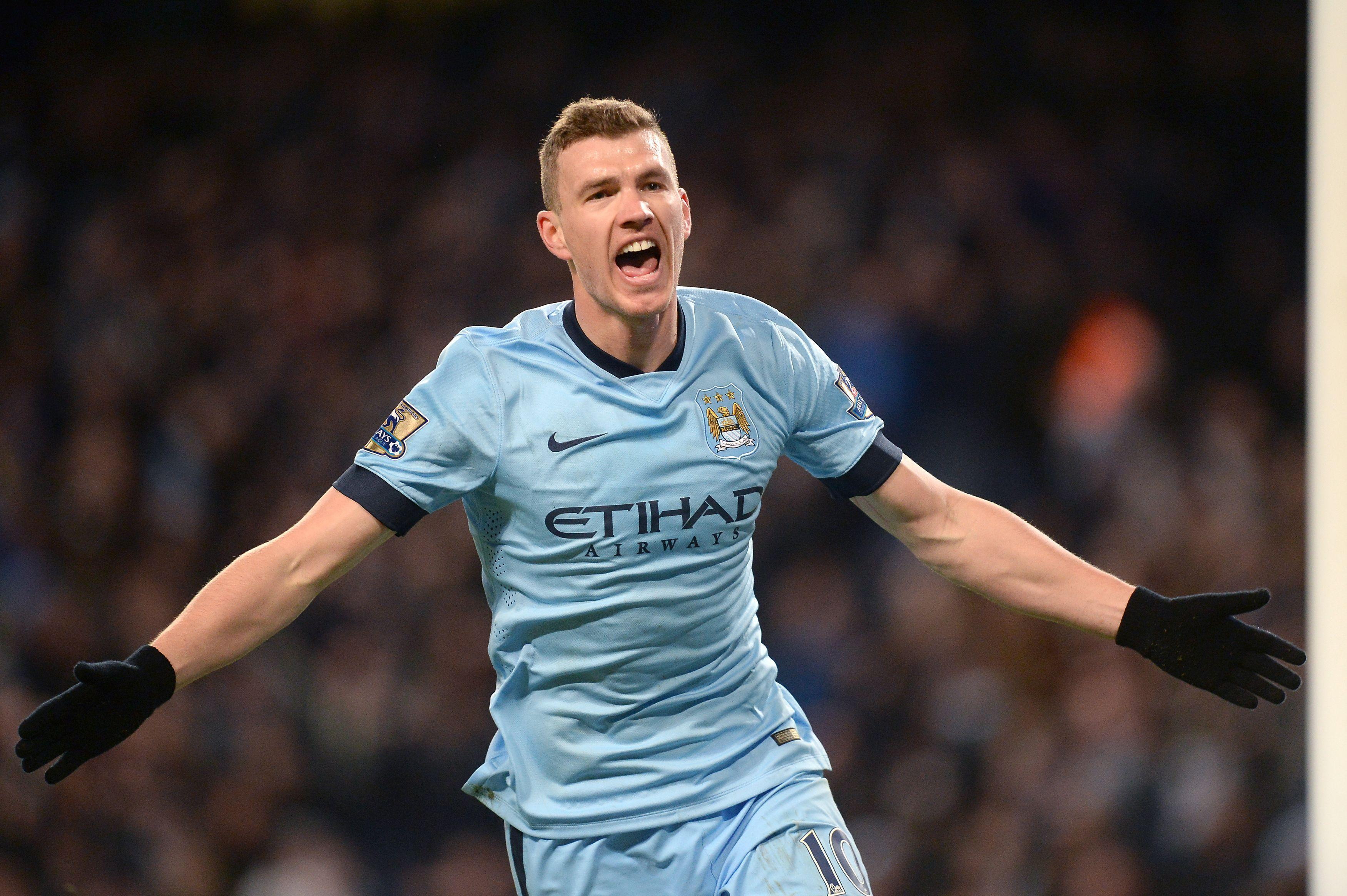 Dzeko enjoyed a spell in the Premier League with Manchester City