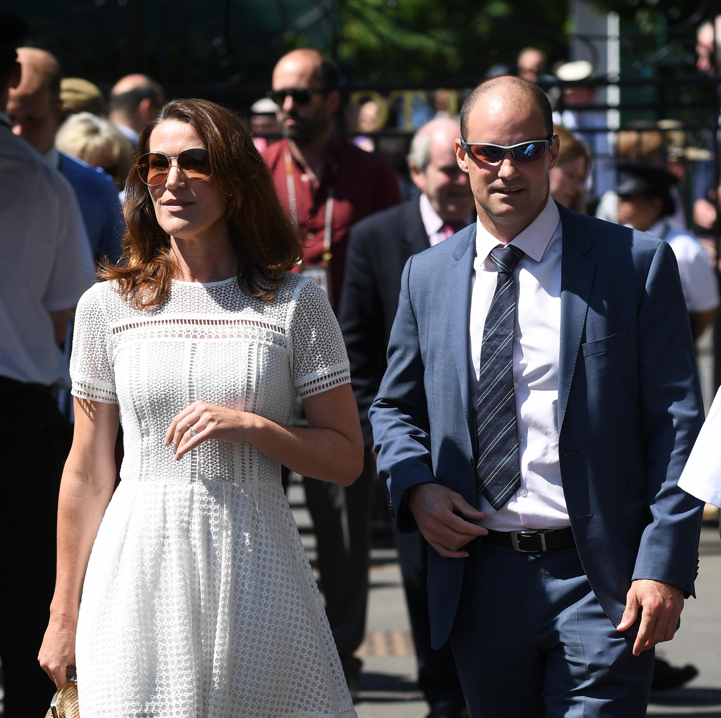 Strauss' wife Ruth, left, has been battling cancer and the former batsman has declared his desire to support her