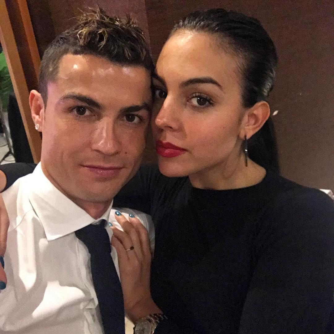 Ronaldo with his partner Georgina Rodriguez