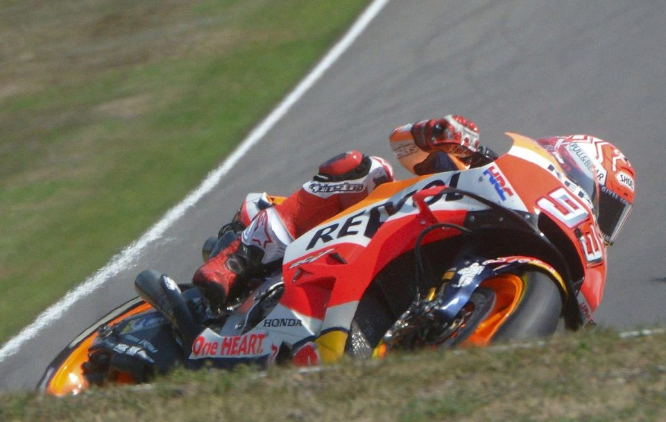 Marquez will secure his fifth MotoGP title in just six seasons if he takes the chequered flag