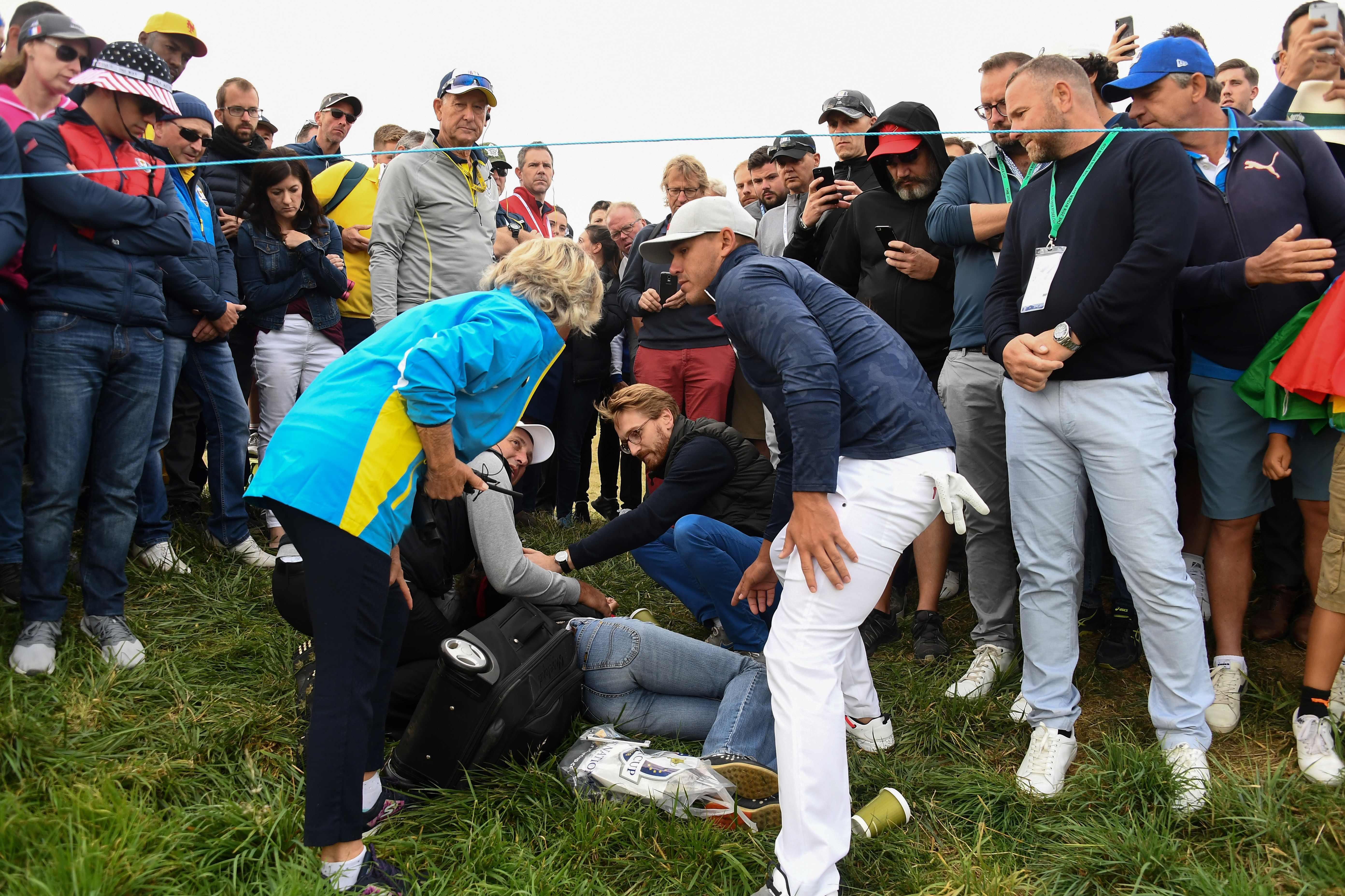 Remande is planning to sue Ryder Cup organisers after her eyeball exploded on the opening day of the tournament
