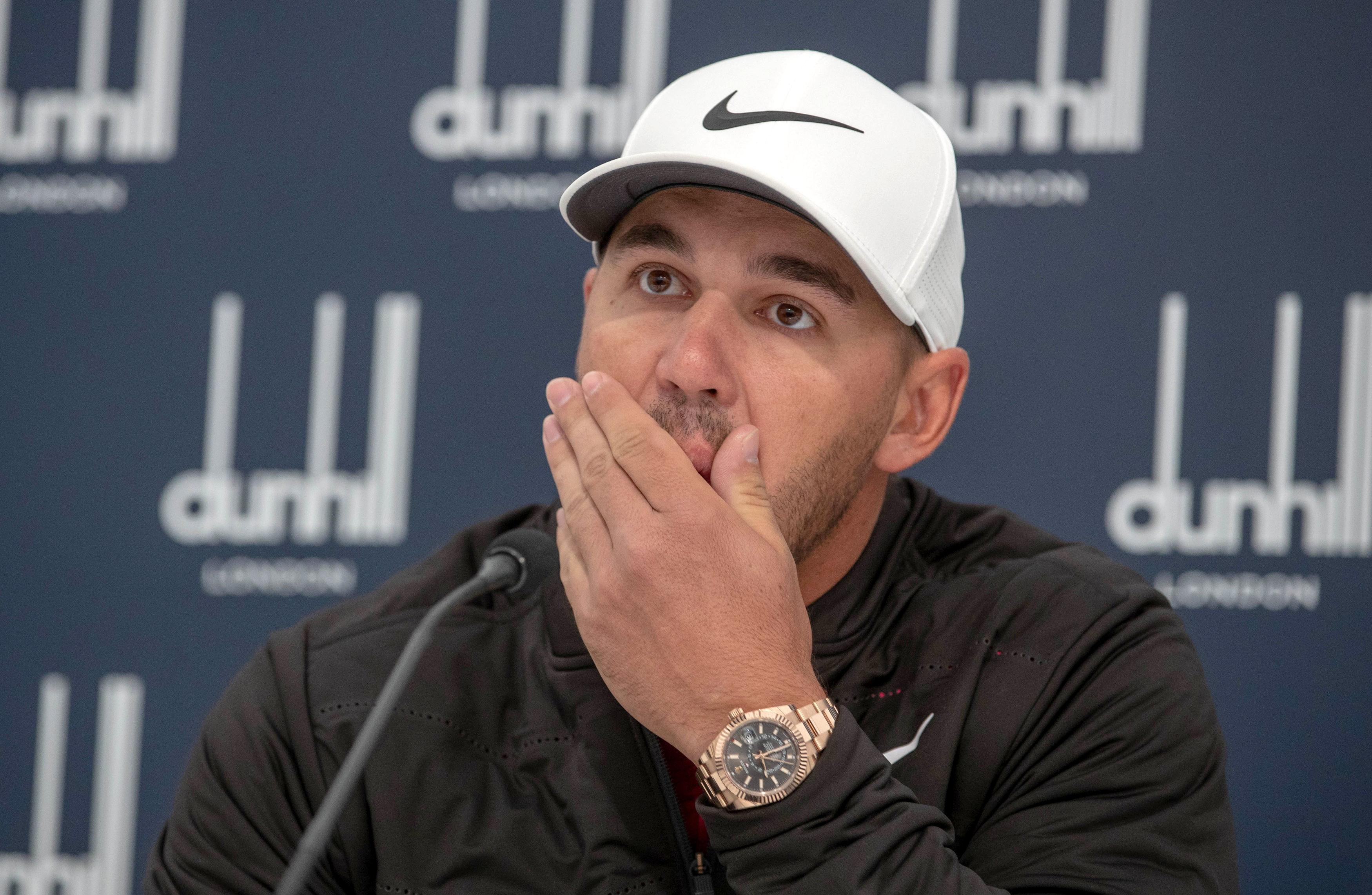 American golfer Brooks Koepka has expressed his grief after learning the fan he hit with a wayward tee shot has been left blind in her right eye