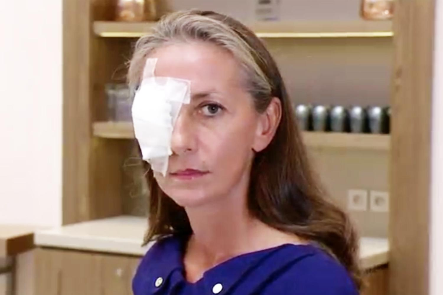 Corine Remande has been left blind in her right eye after being hit in the face by a ball