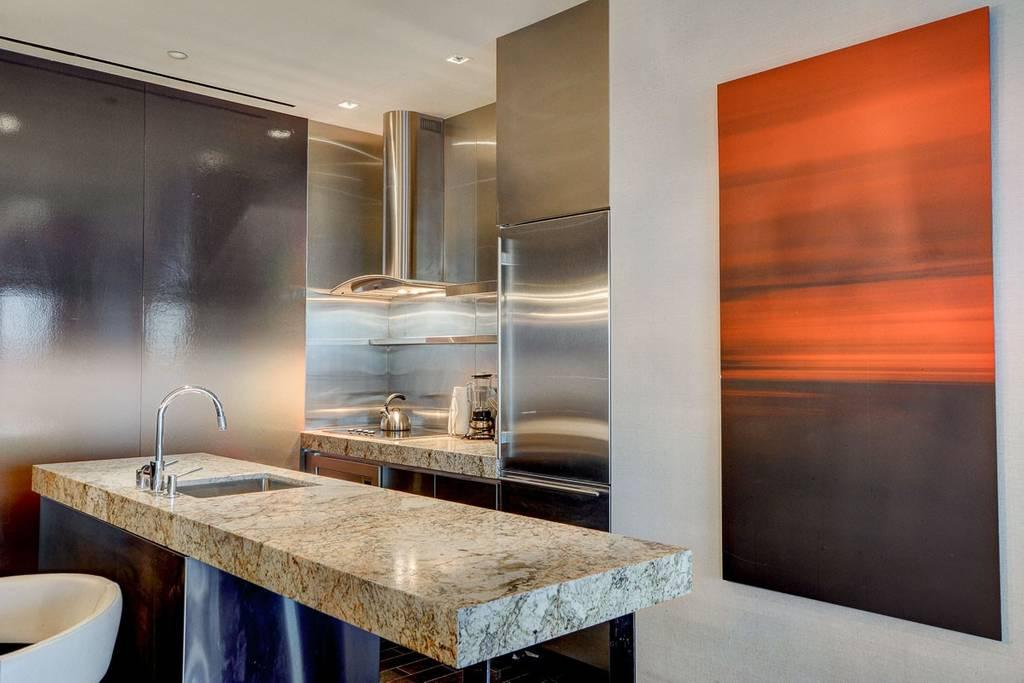The kitchen in the £775-a-night suite where Ronaldo stayed in 2009