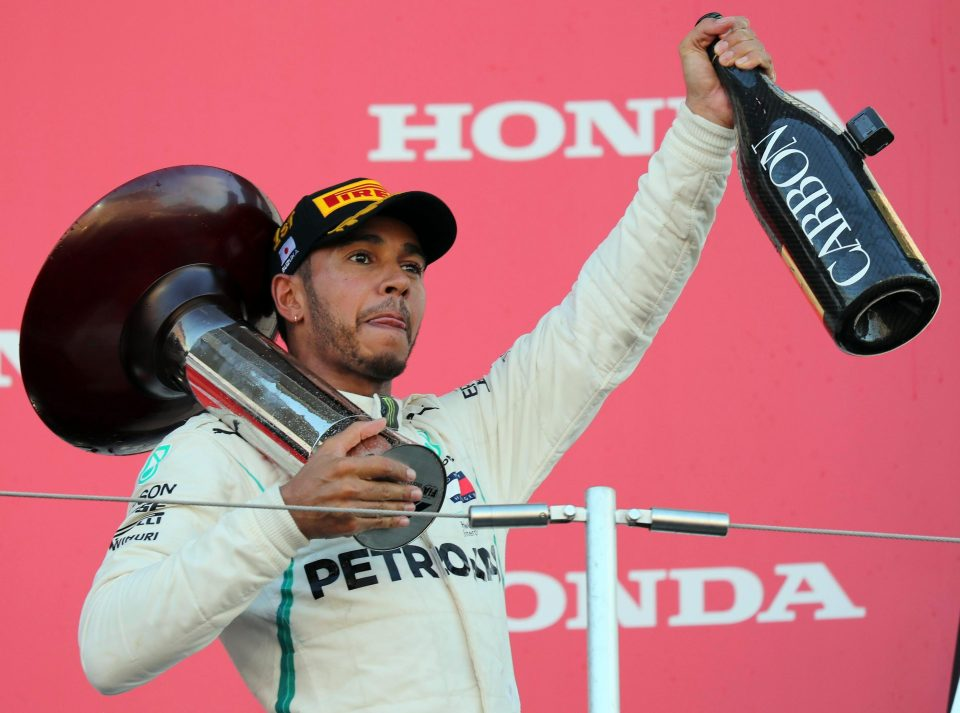 Lewis Hamilton won the race at Suzuka to extend his lead at the top of the drivers championship to 67 points