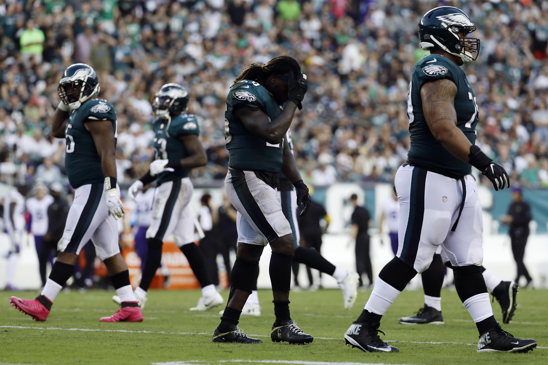 Jay Ajayi picked up the knee injury during the Philadelphia Eagles' loss to the Minnesota Vikings on Sunday