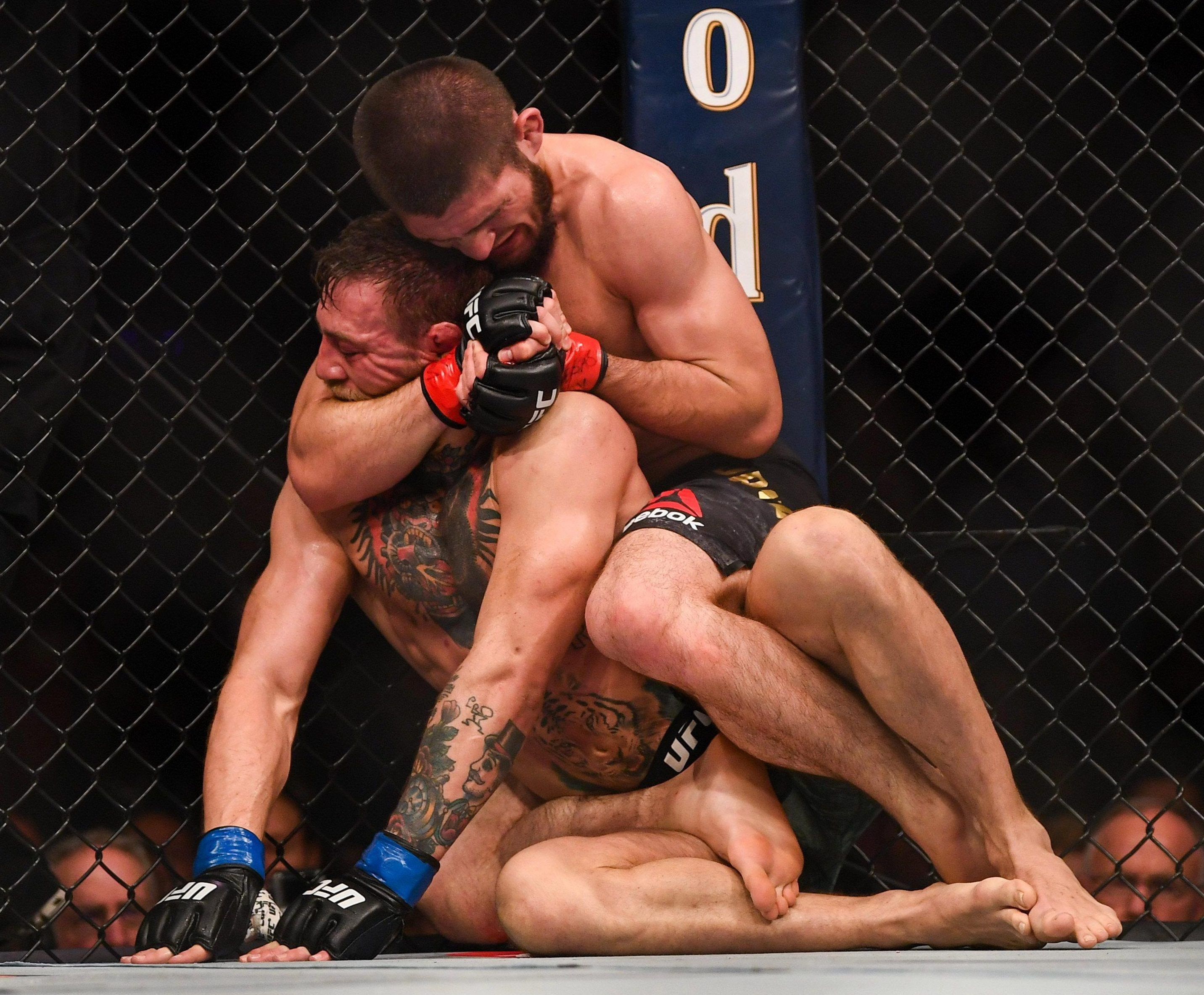Khabib forced Conor McGregor into a fourth-round submission in Las Vegas earlier in October