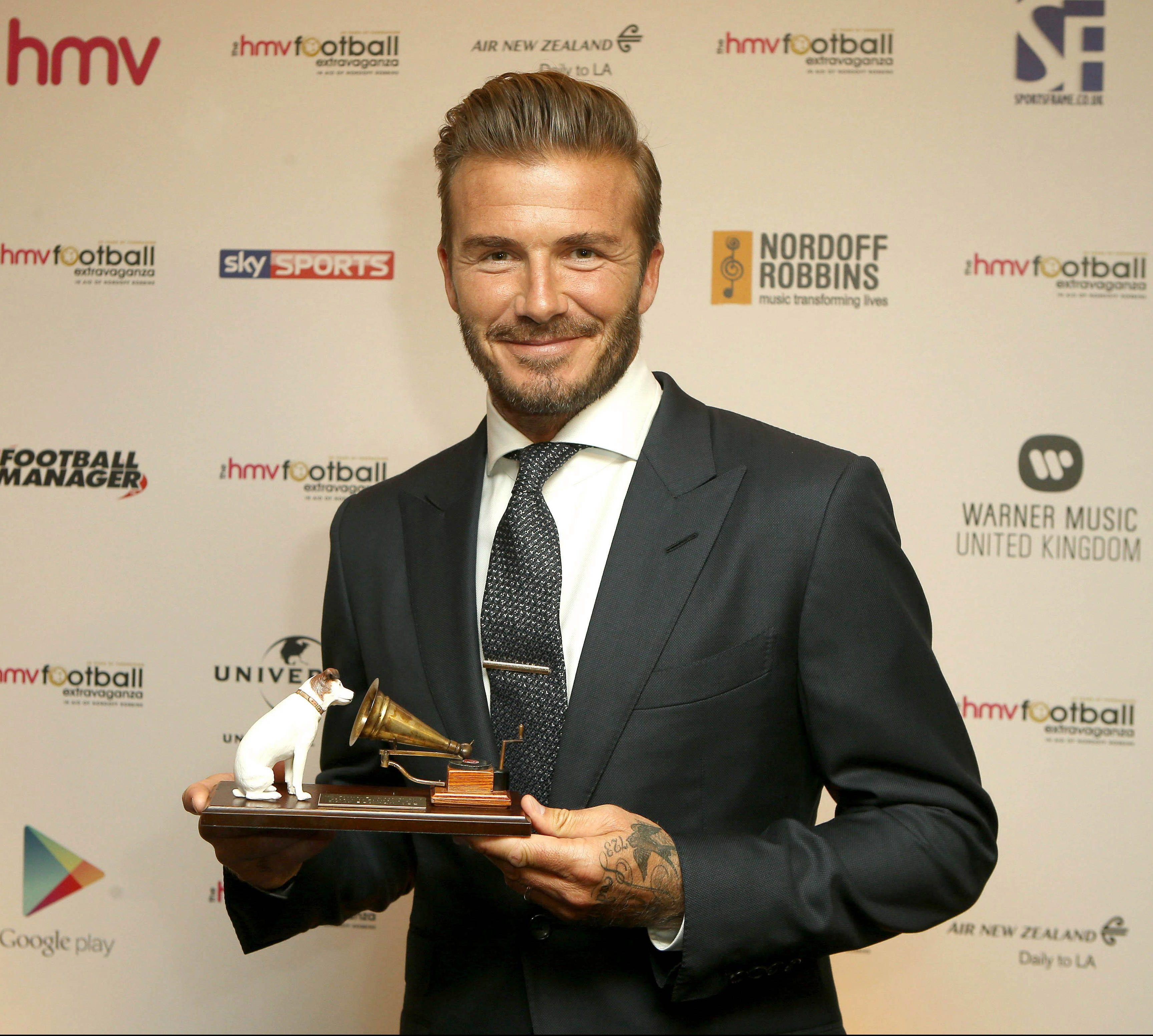 David Beckham was the recipient in 2015, two years after hanging up his boots