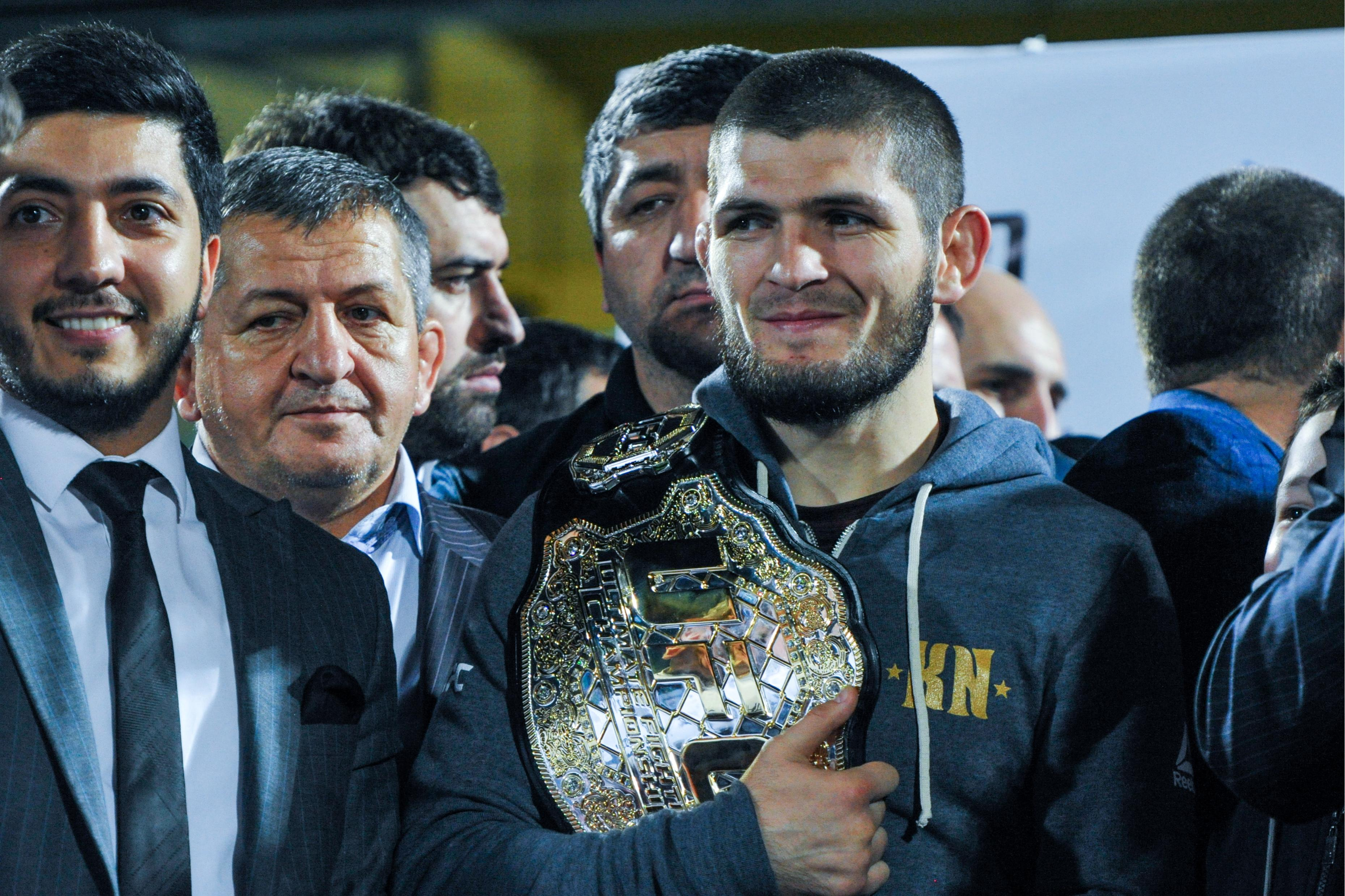 Khabib has his belt but faces losing his £1.5m purse