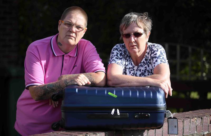 Sheridan Bywater and Tracy Hall were caught up in the strikes, delayed for 14 hours