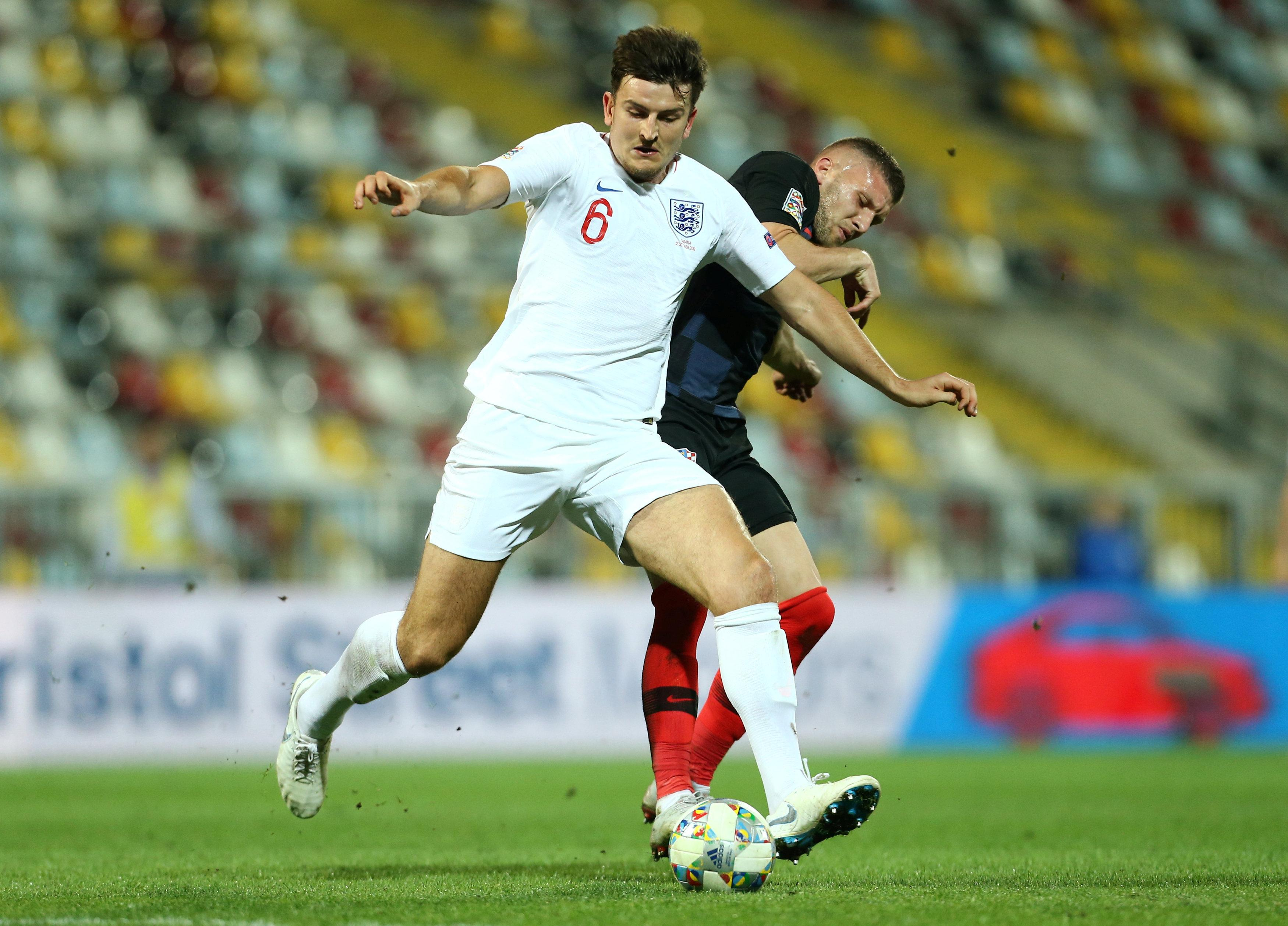 Harry Maguire was captured swearing by the cameras