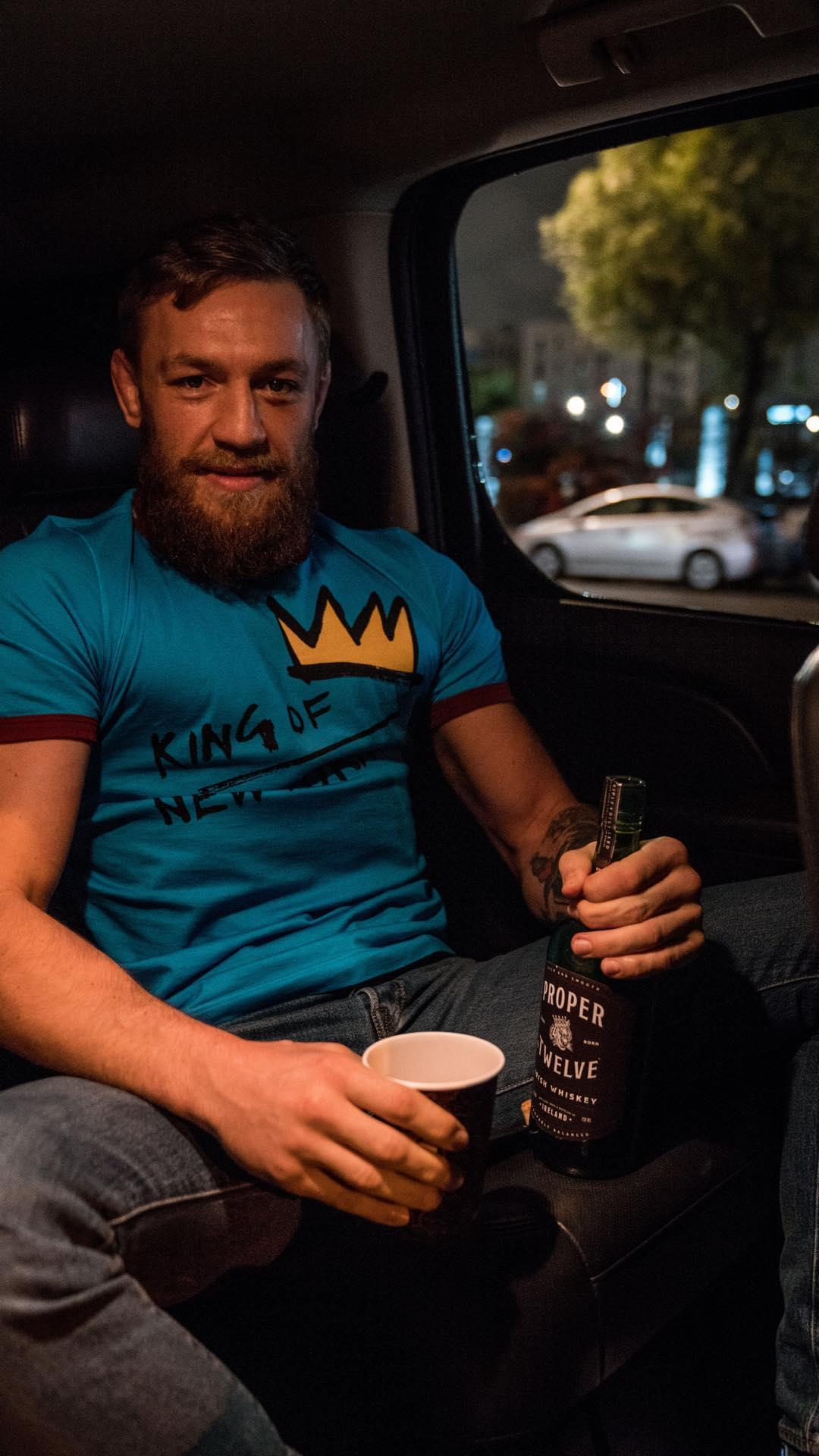 UFC star Conor McGregor was enjoying his new whiskey