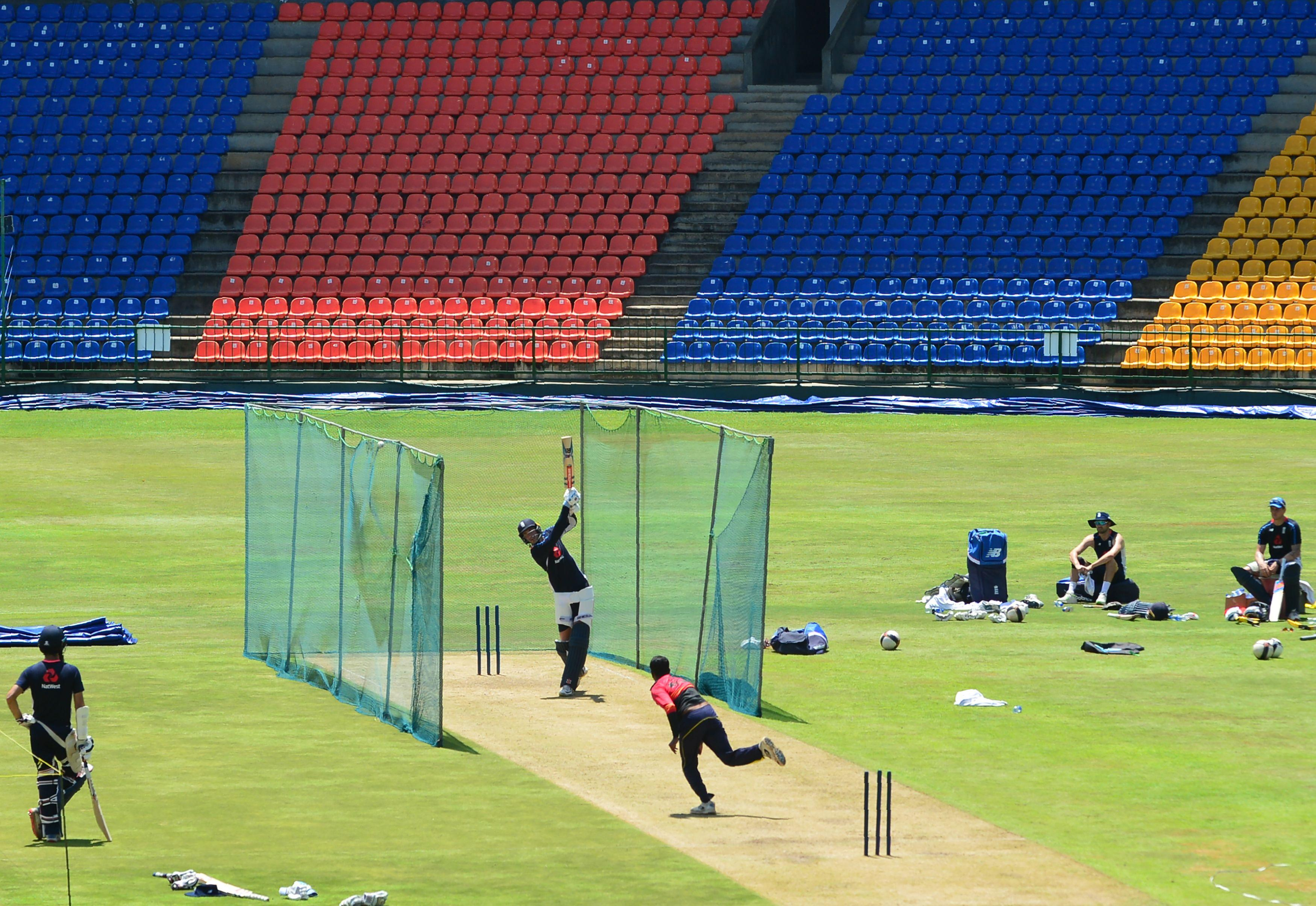 England were in training ahead of the third ODI in Kandy