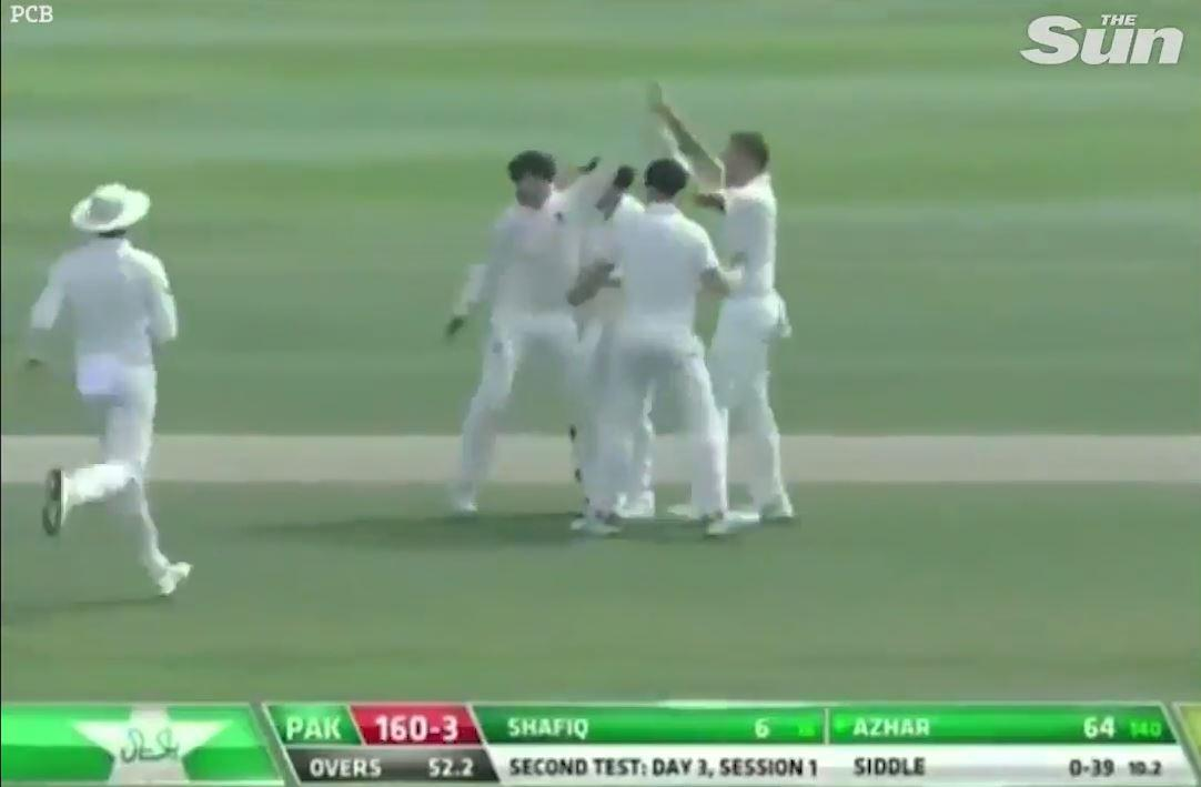 Australia celebrated taking one of the wackiest wickets in cricket history