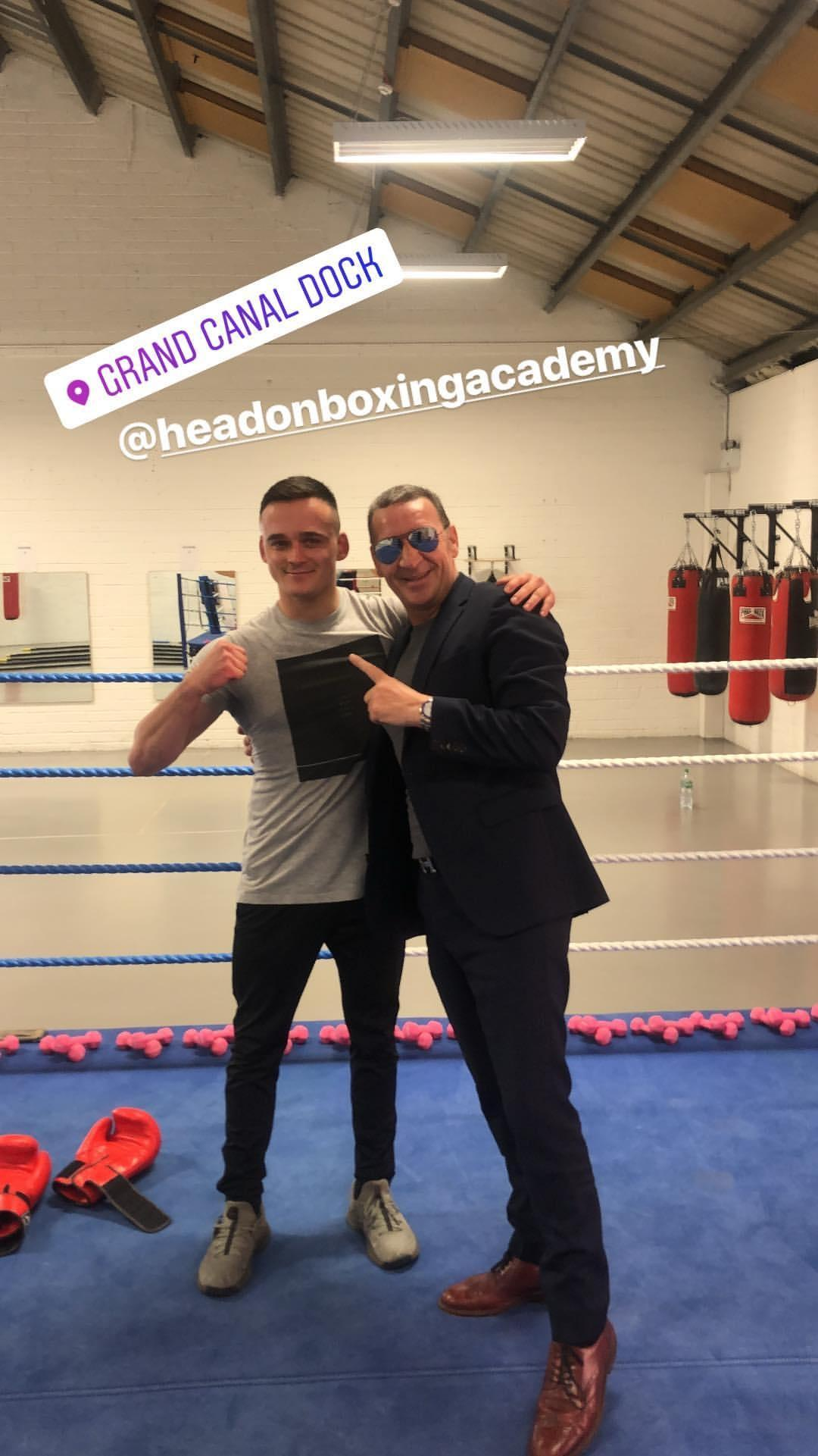Conor McGregor's father has shown off his own handywork inside the ring