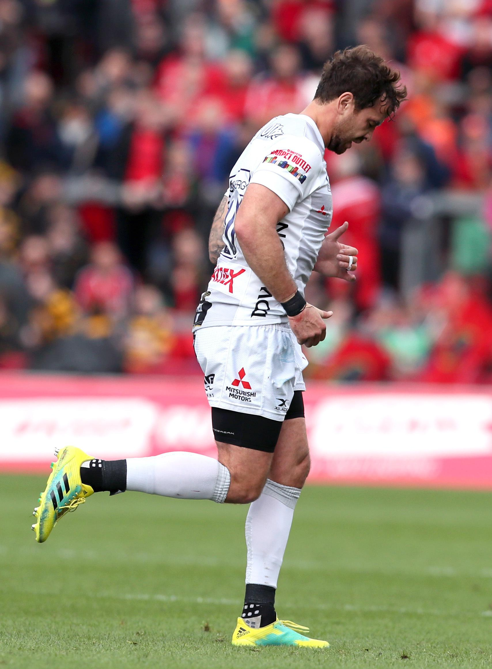 Cipriani ran off the pitch after being shown his red card