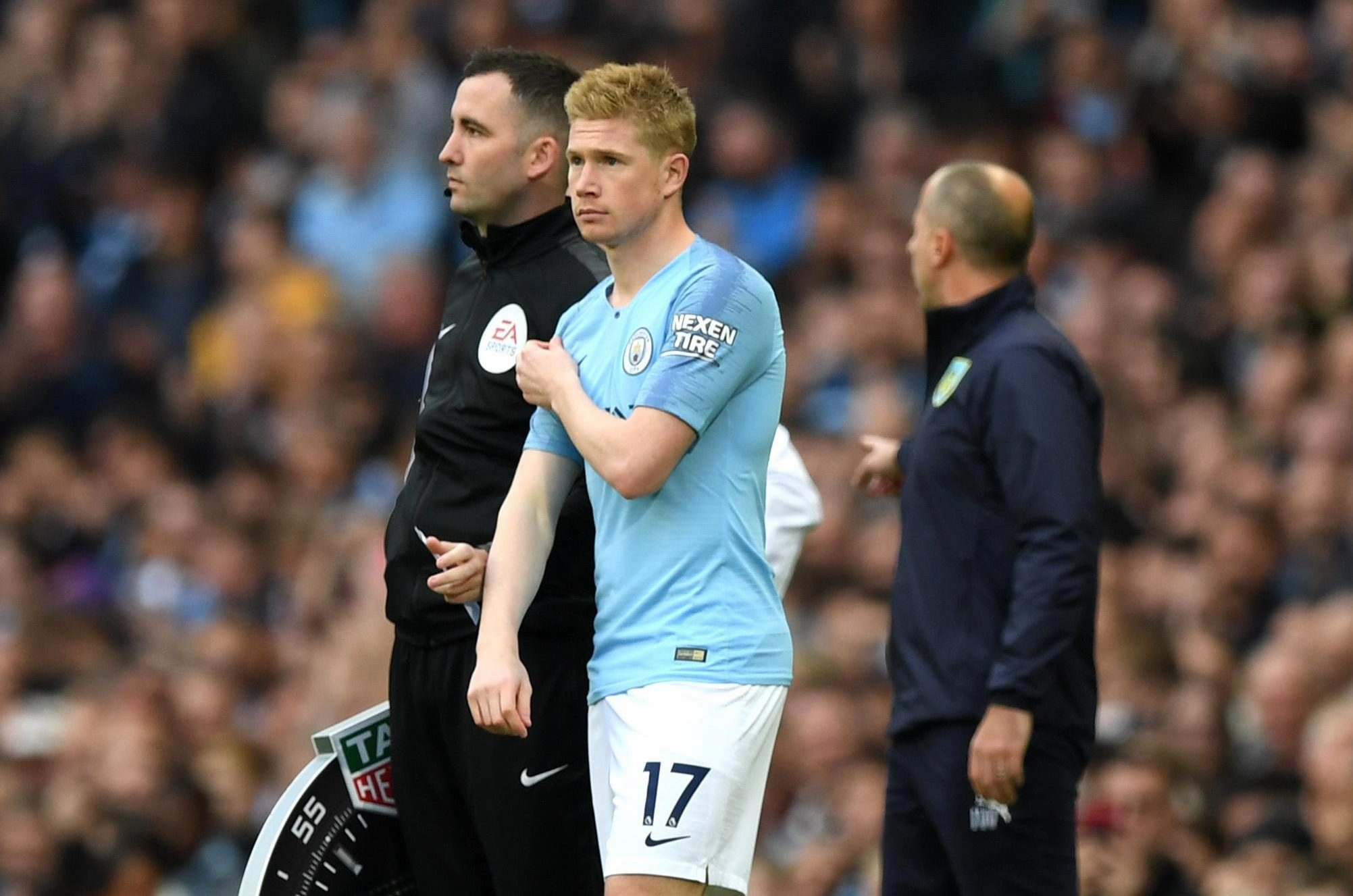 Kevin De Bruyne is concerned about the state of the Wembley pitch for Manchester City's trip to London to face Tottenham