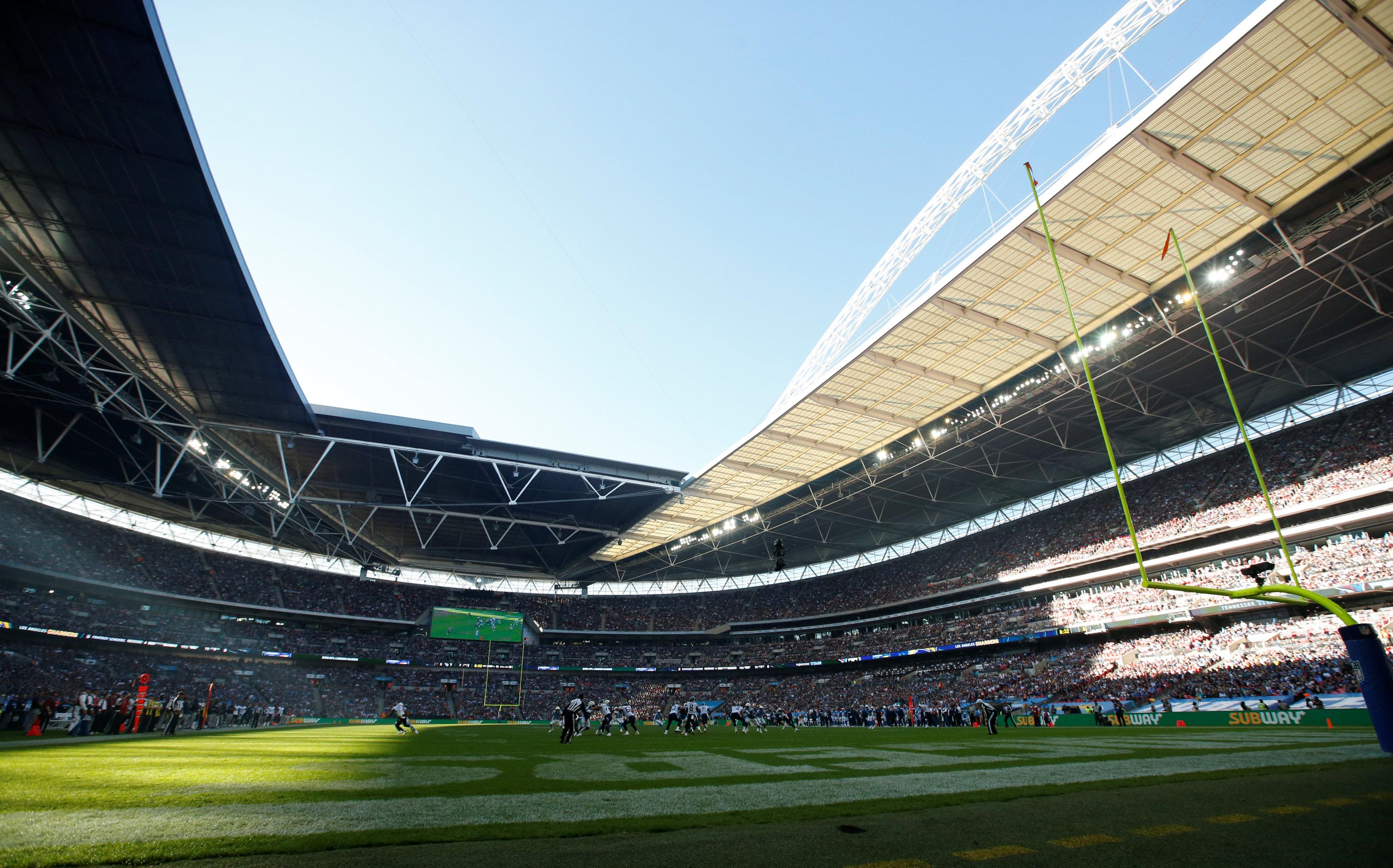 The NFL clash will be the third at Wembley inside a month
