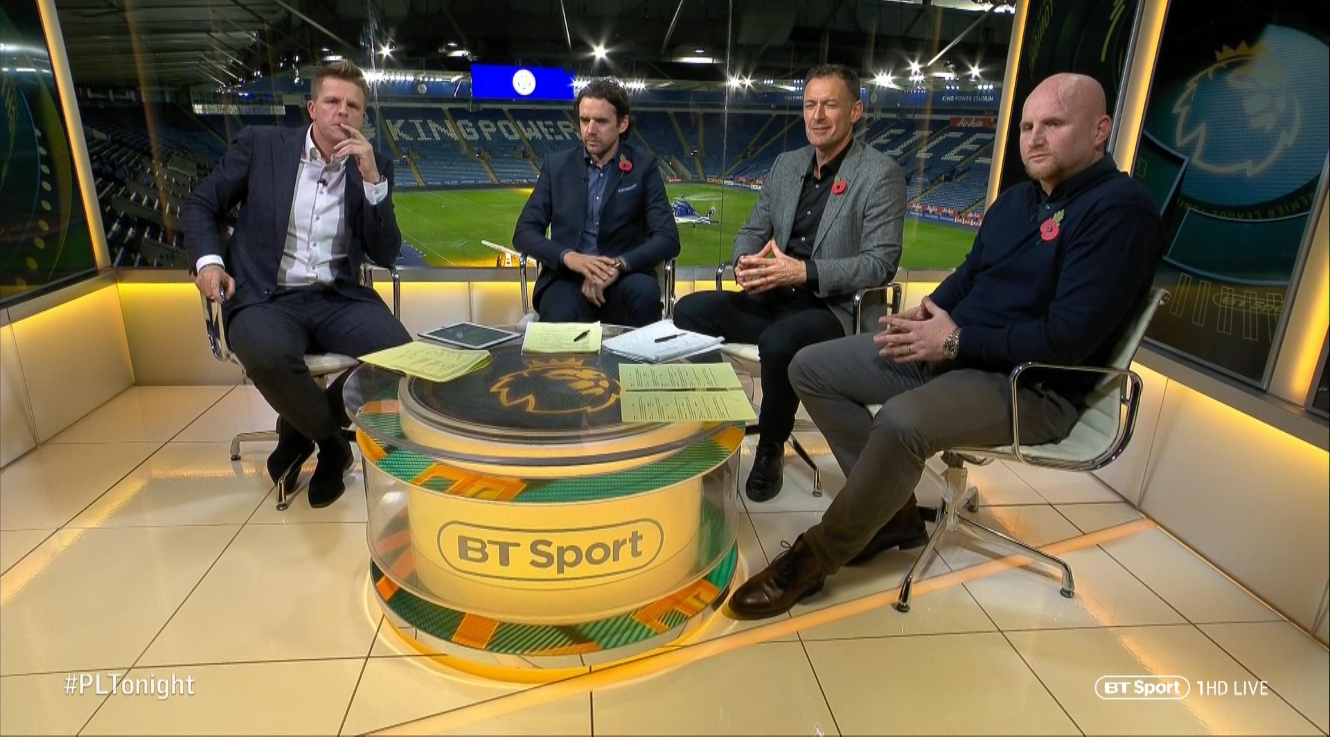 Host Jake Humphrey and pundits on Premier League Tonight discussed the chopper as it took off