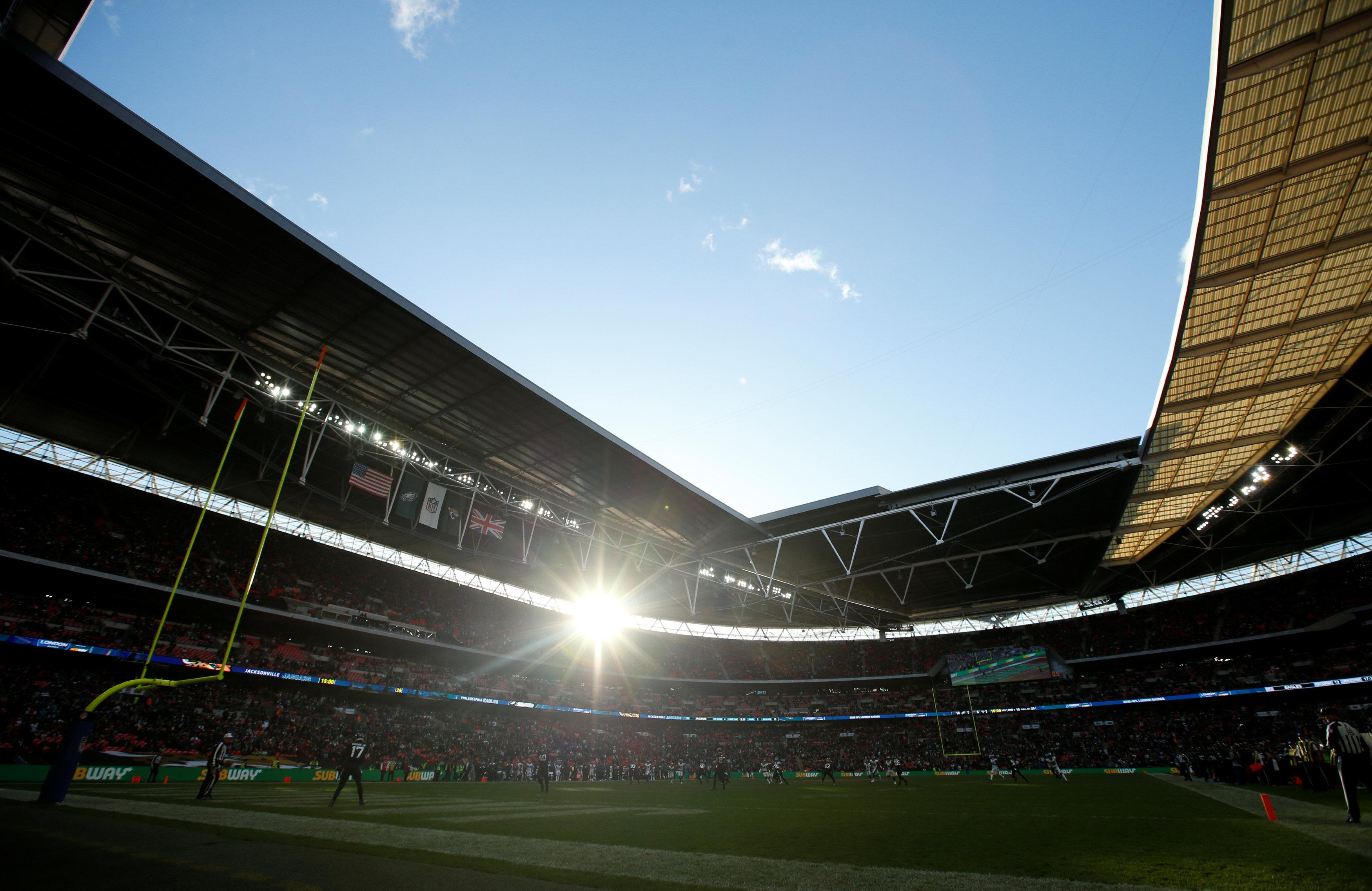 The sun was shining at Wembley as the Eagles soared to a nervy win