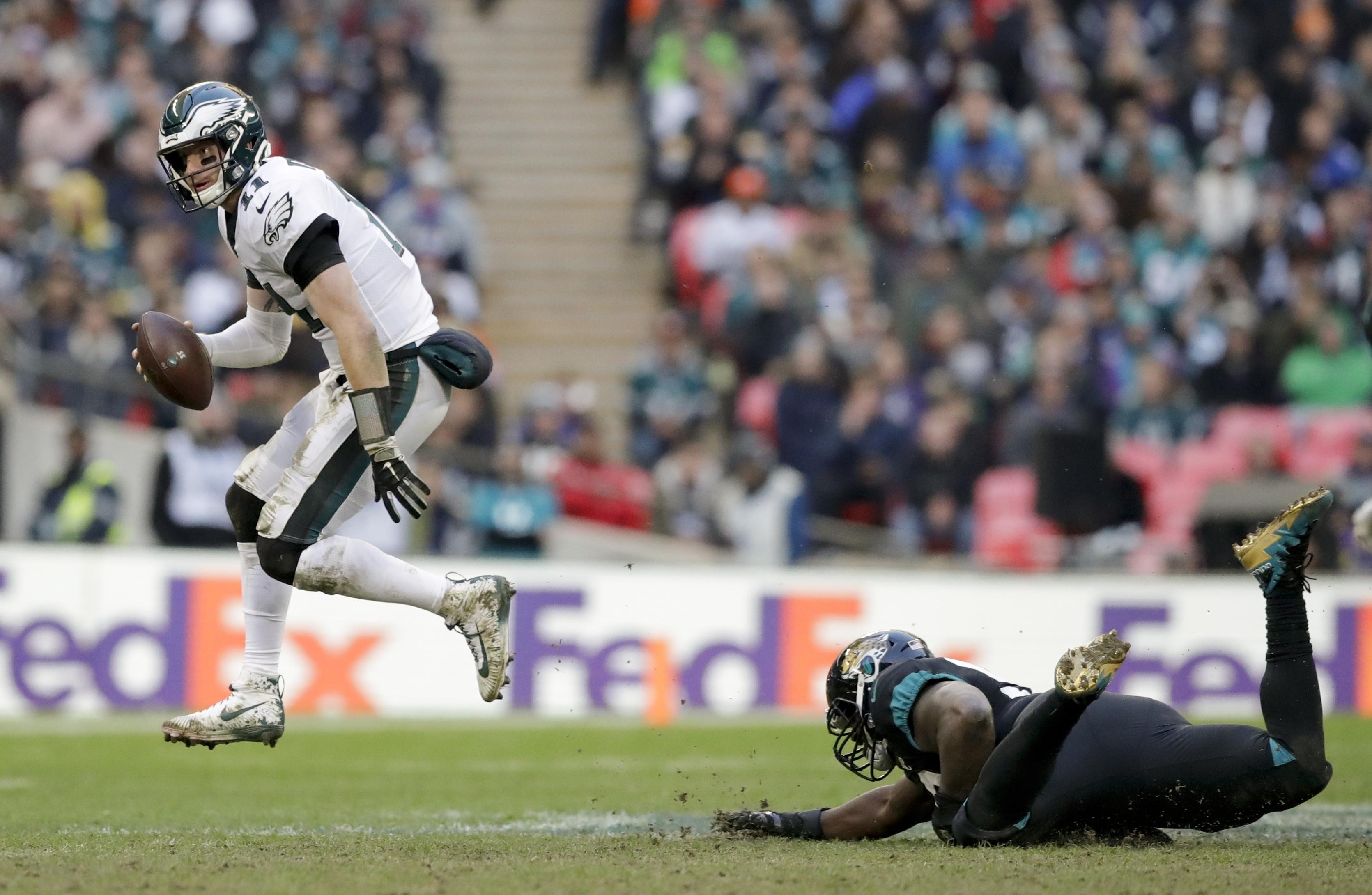Carson Wentz was the hero for the Eagles on a great day at Wembley