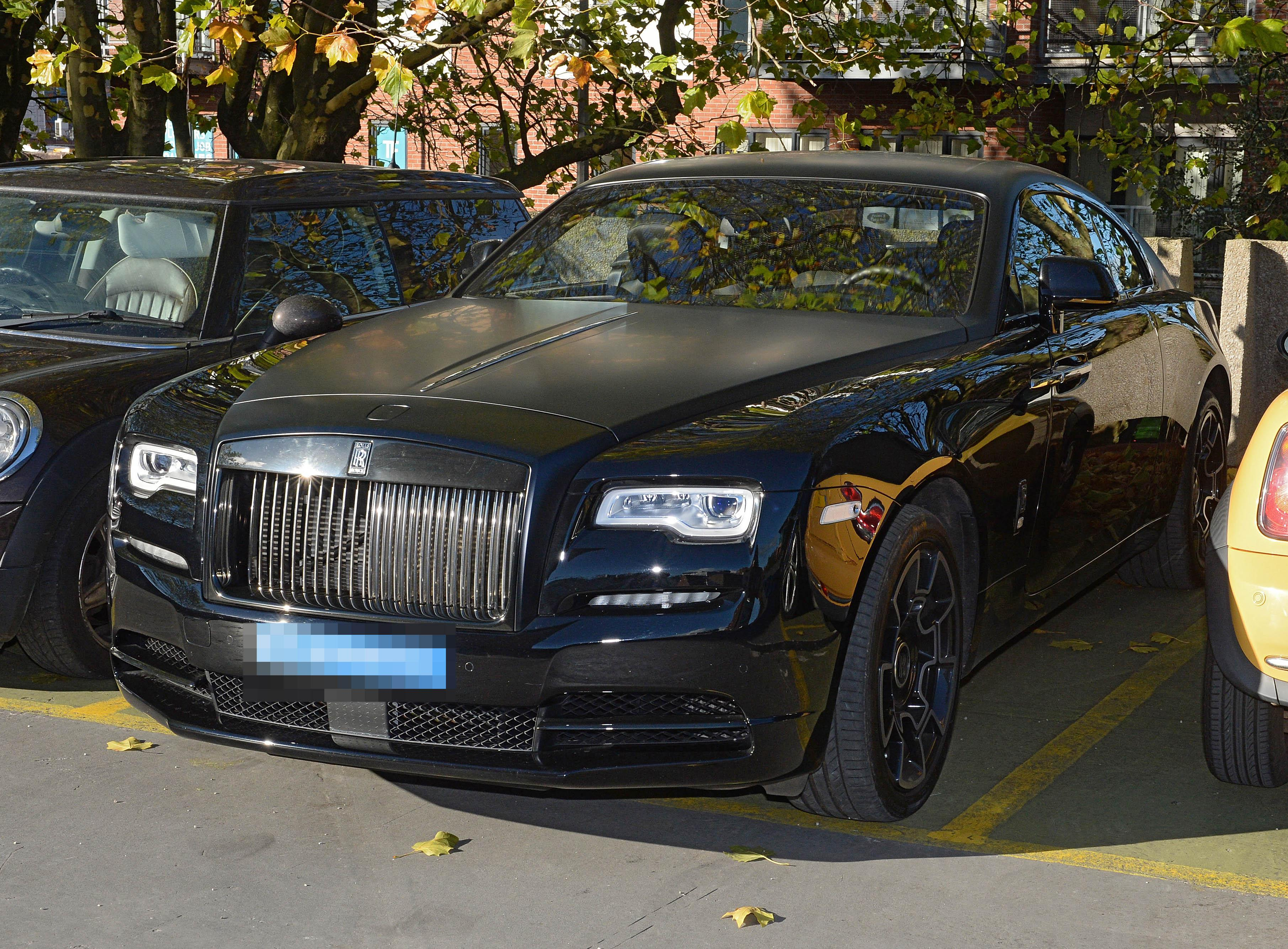 The France international arrived at court in a £300,000 Rolls-Royce
