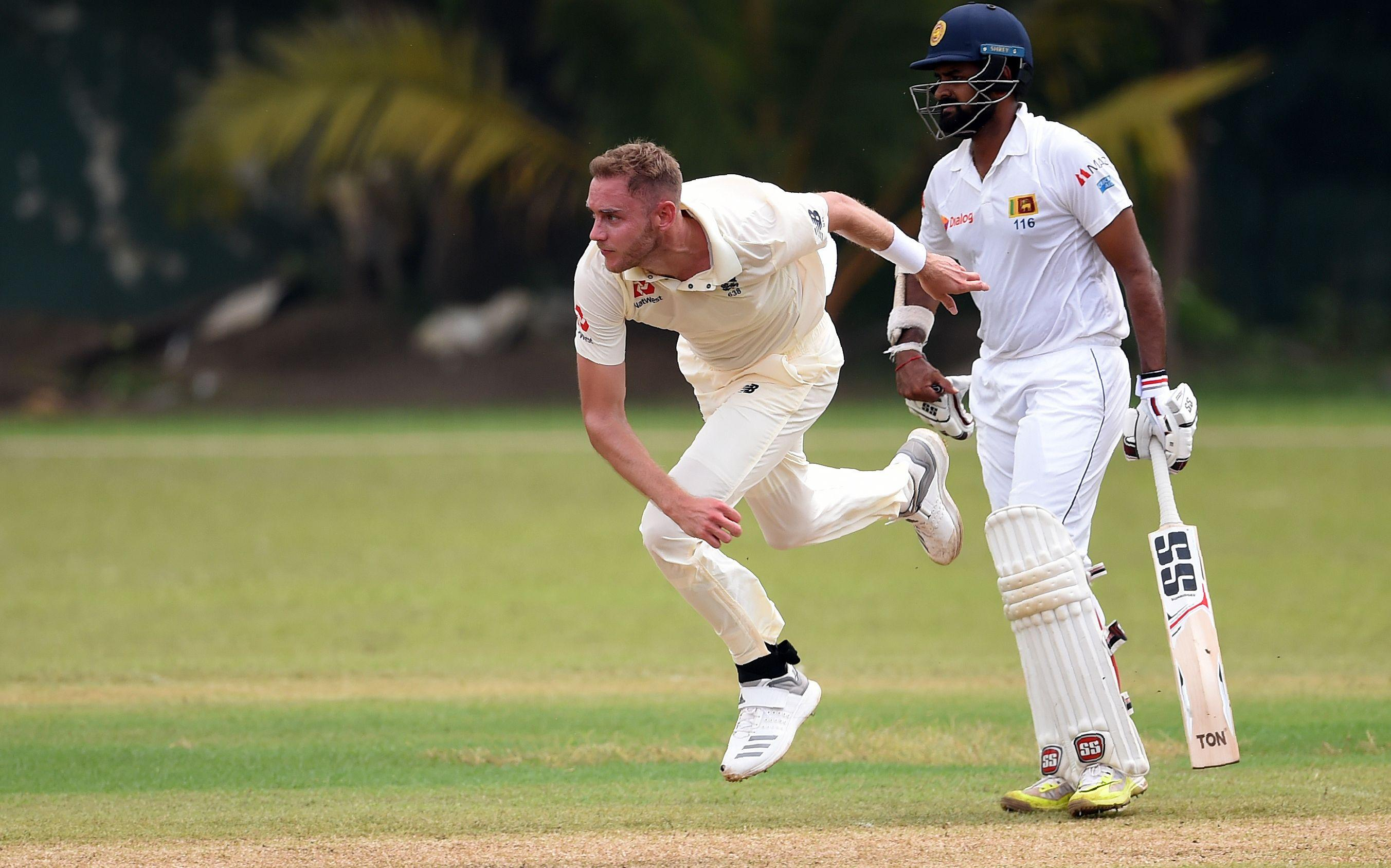 Stuart Broad went wicketless on tough day one of the warm-up game