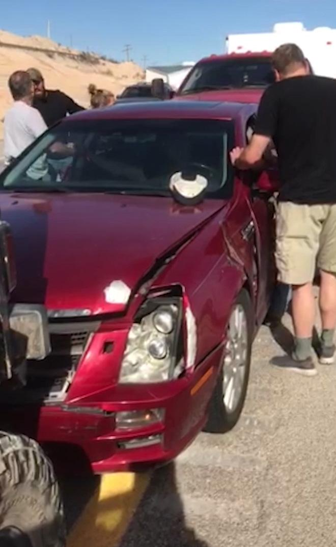 Stephan Bonnar's red Cadillac was said to have been driven 'erratically'