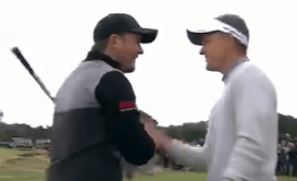 Brit Eddie Pepperell takes the plaudits after his spectacular, spinning eagle