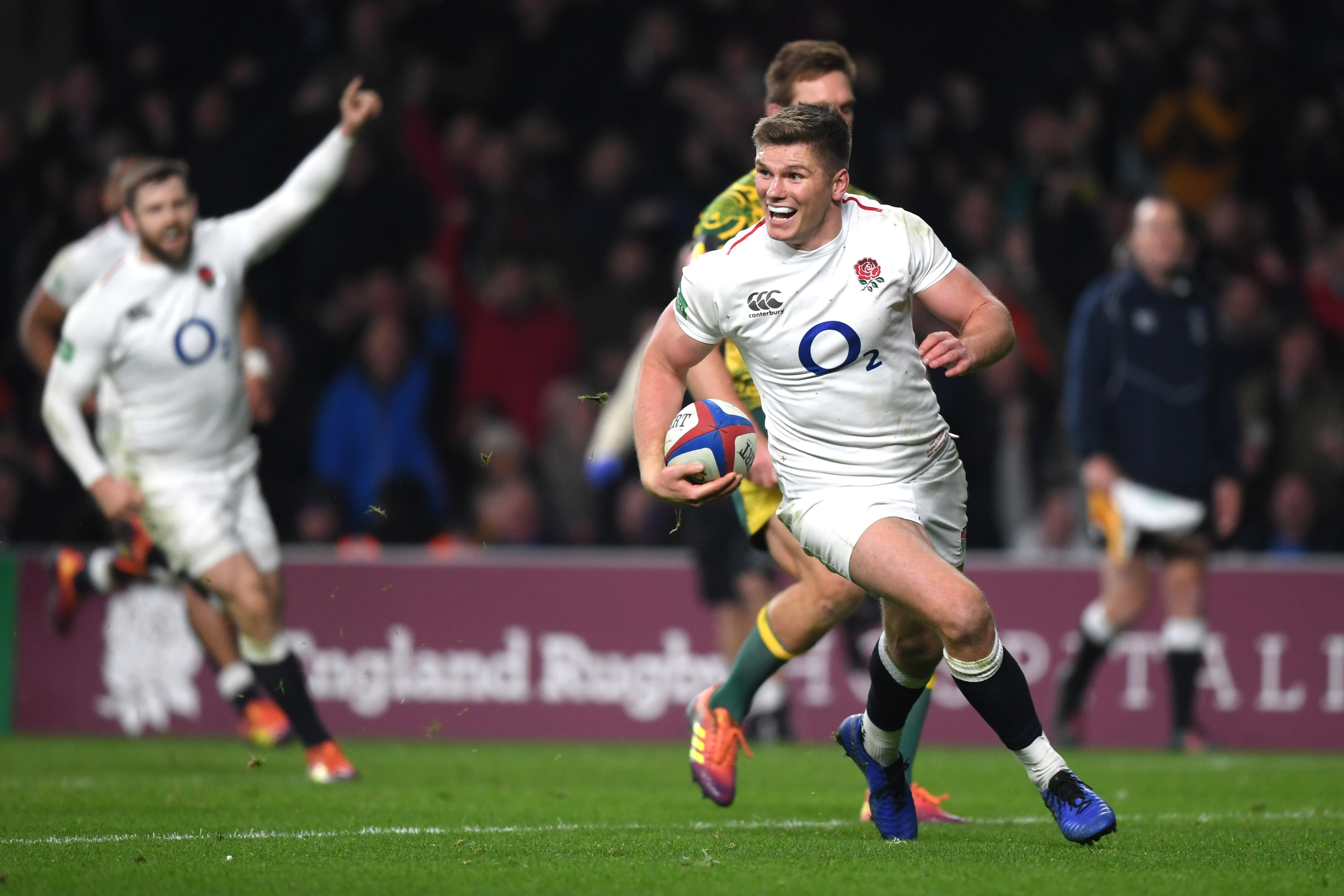 Farrell scored a superb try in the second half after a sweet offload from George Ford