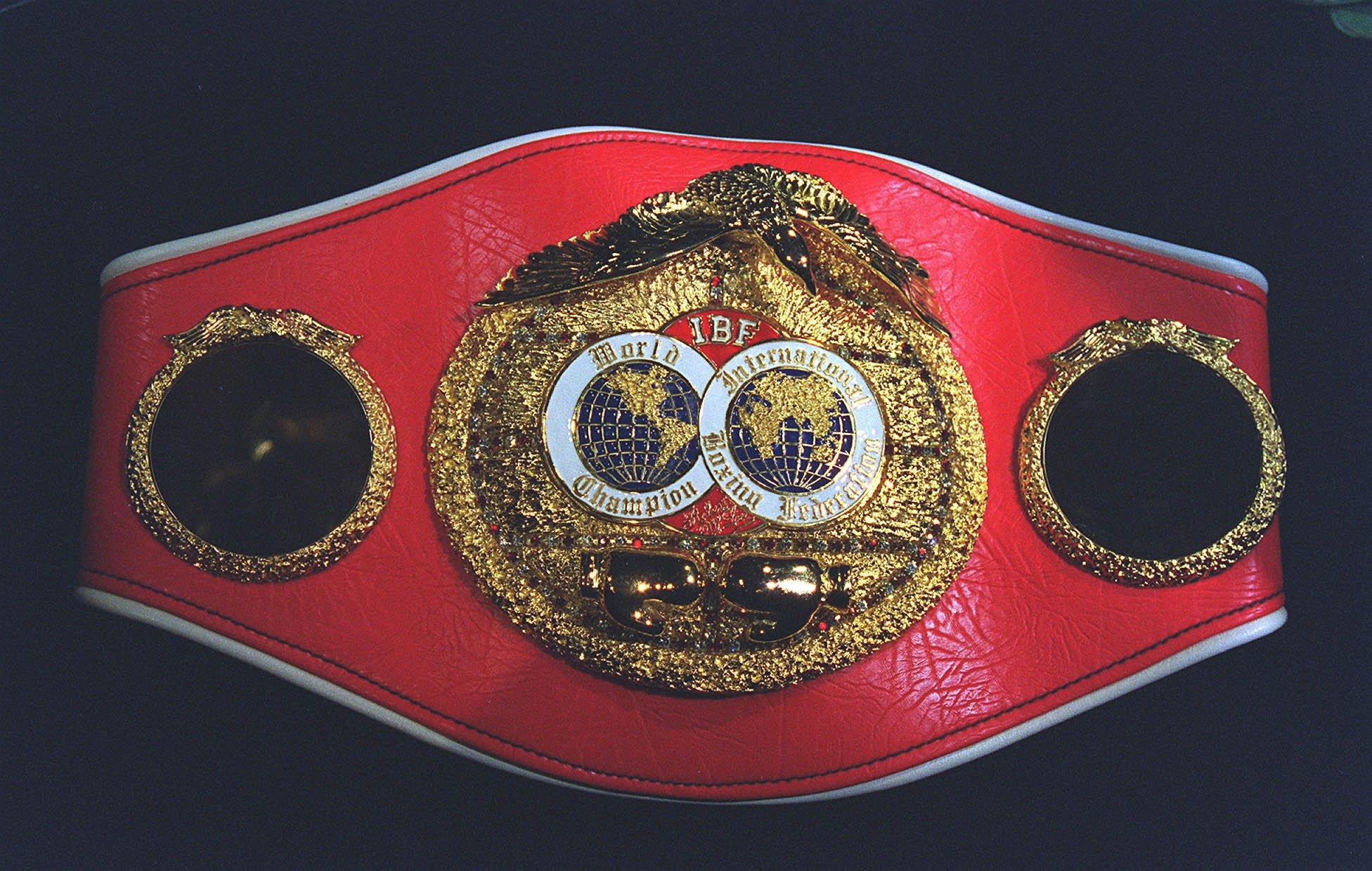 The IBF is a sanctioning body founded in 1983 - they are one of the four major organisations - their world title looks similar to the European strap