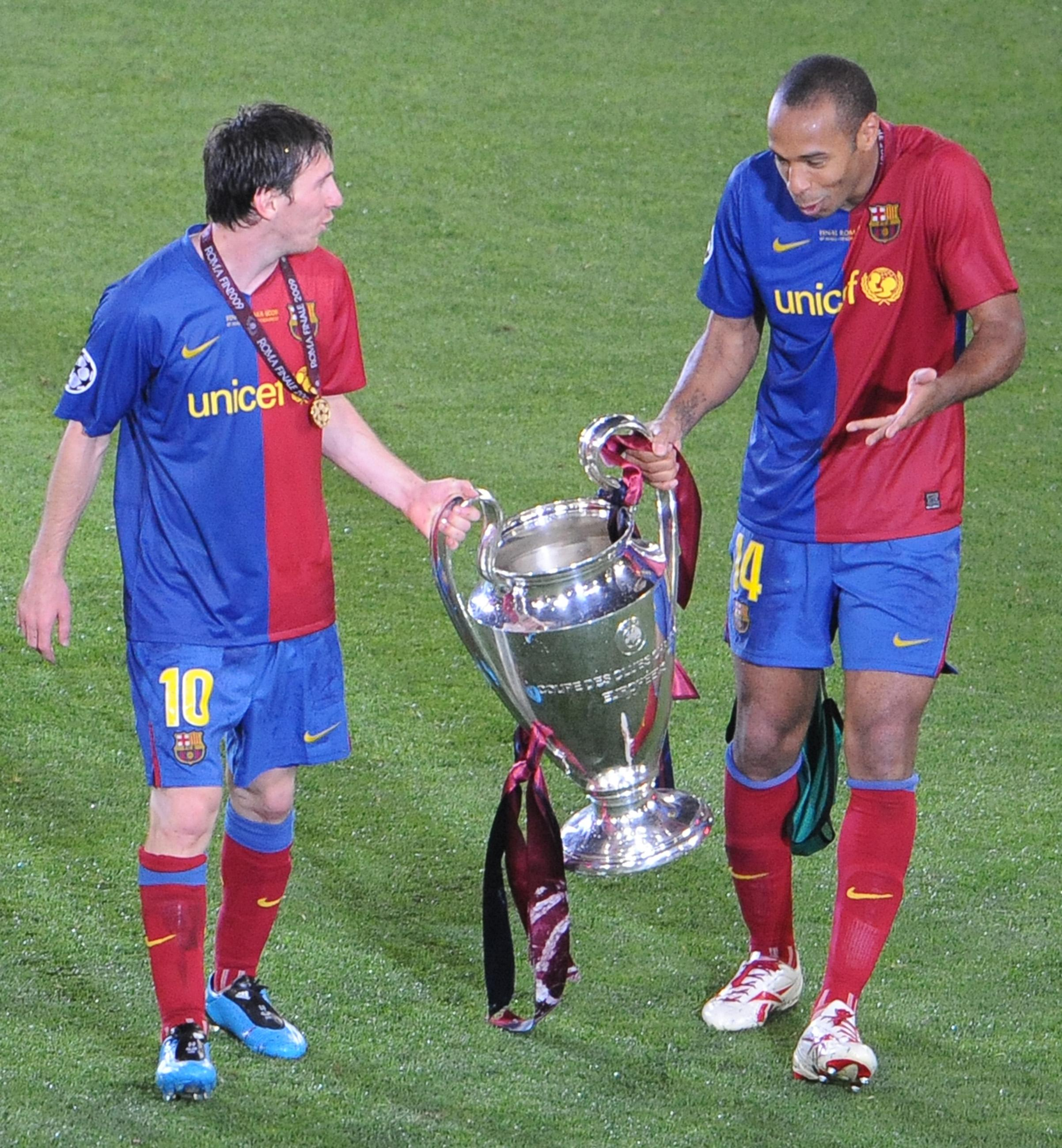 Henry and Messi had great success at Barca, but it was one goal in particular that the French ace remembers for being 'not normal'