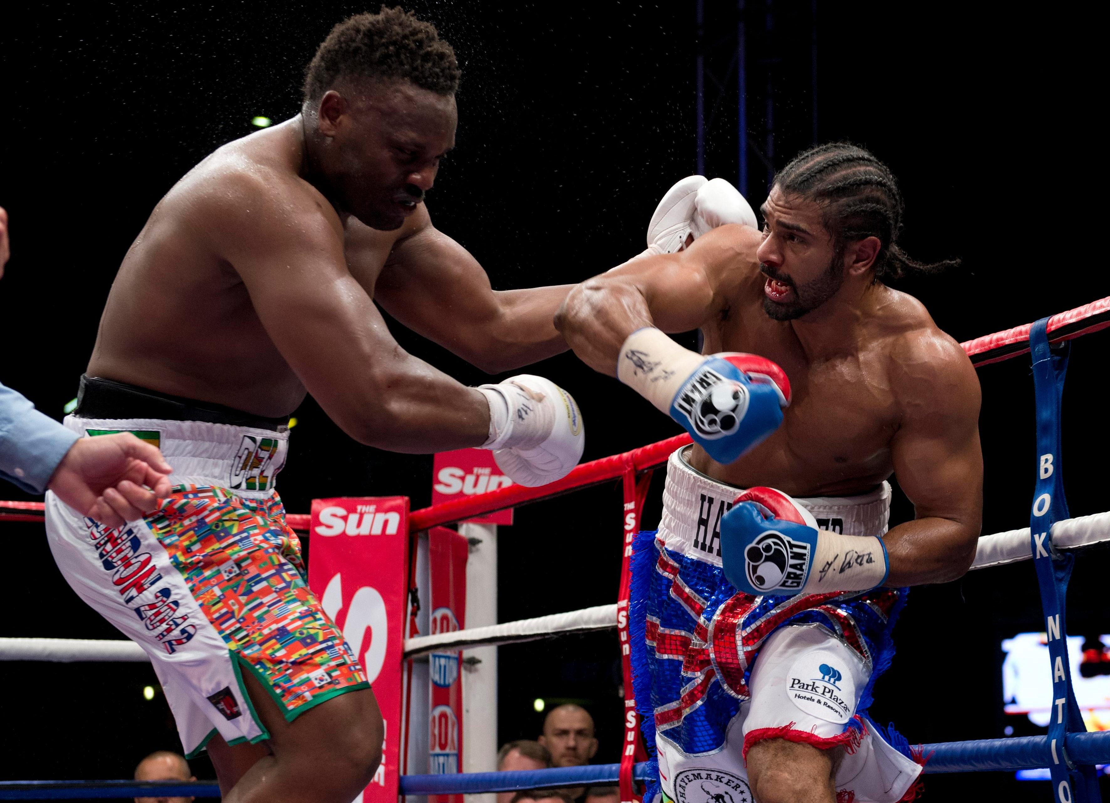Haye beat Chisora in 2012 after a bitter rivarly - however, Hayemaker now manages Del Boy