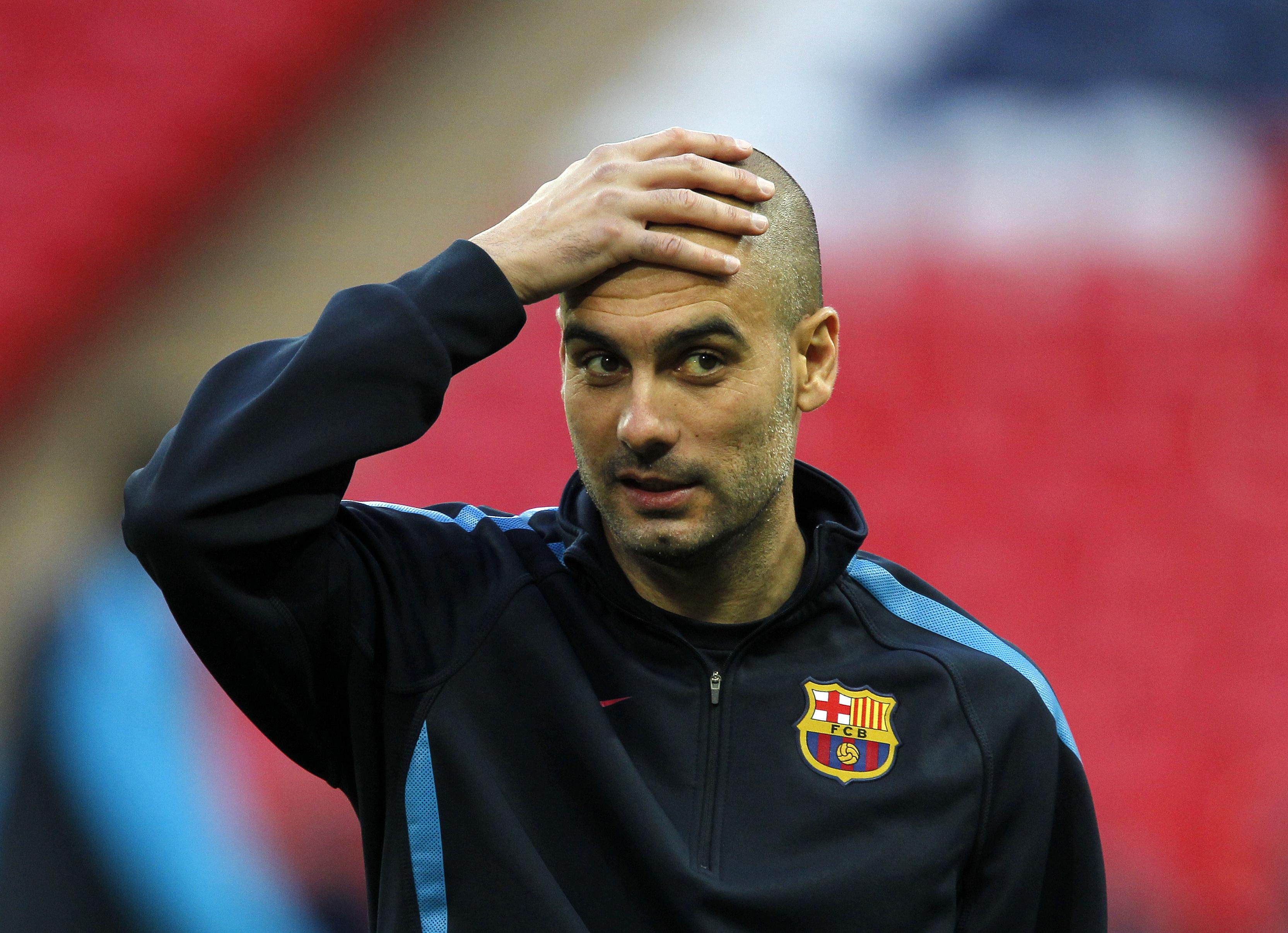 Pep Guardiola was ultimately given the job at Barcelona
