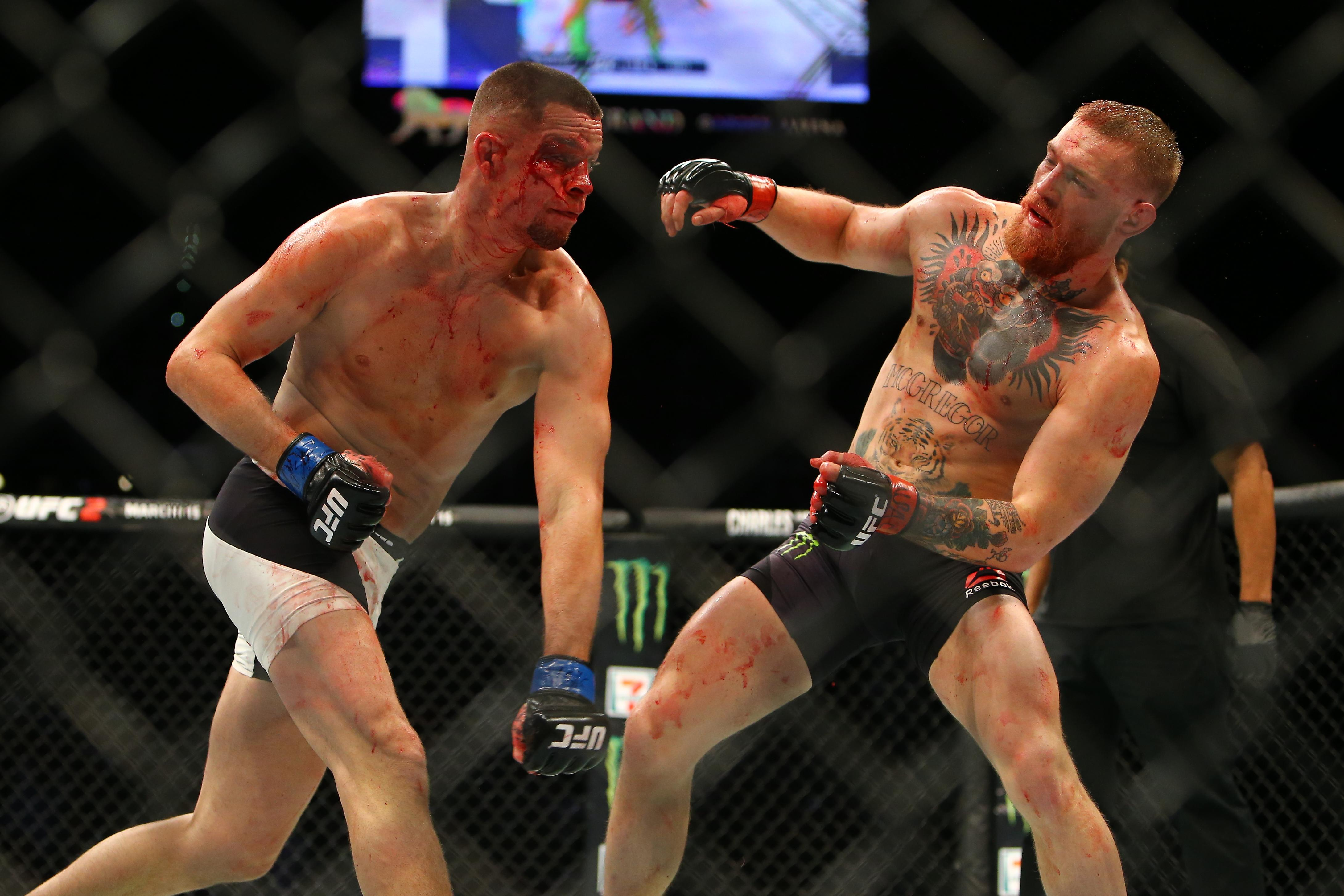 Diaz's brother, Nate, defeated McGregor at UFC 196, but would be defeated in the rematch five months later