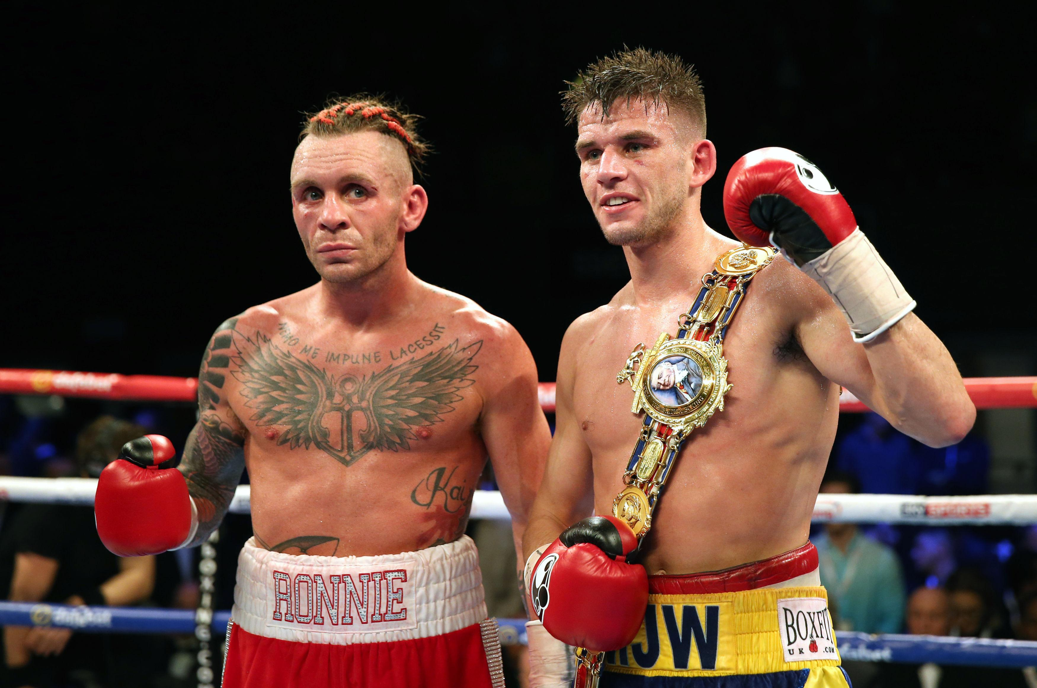 Barrett fought for the British title against Martin J Ward in 2016 - but lost via decision