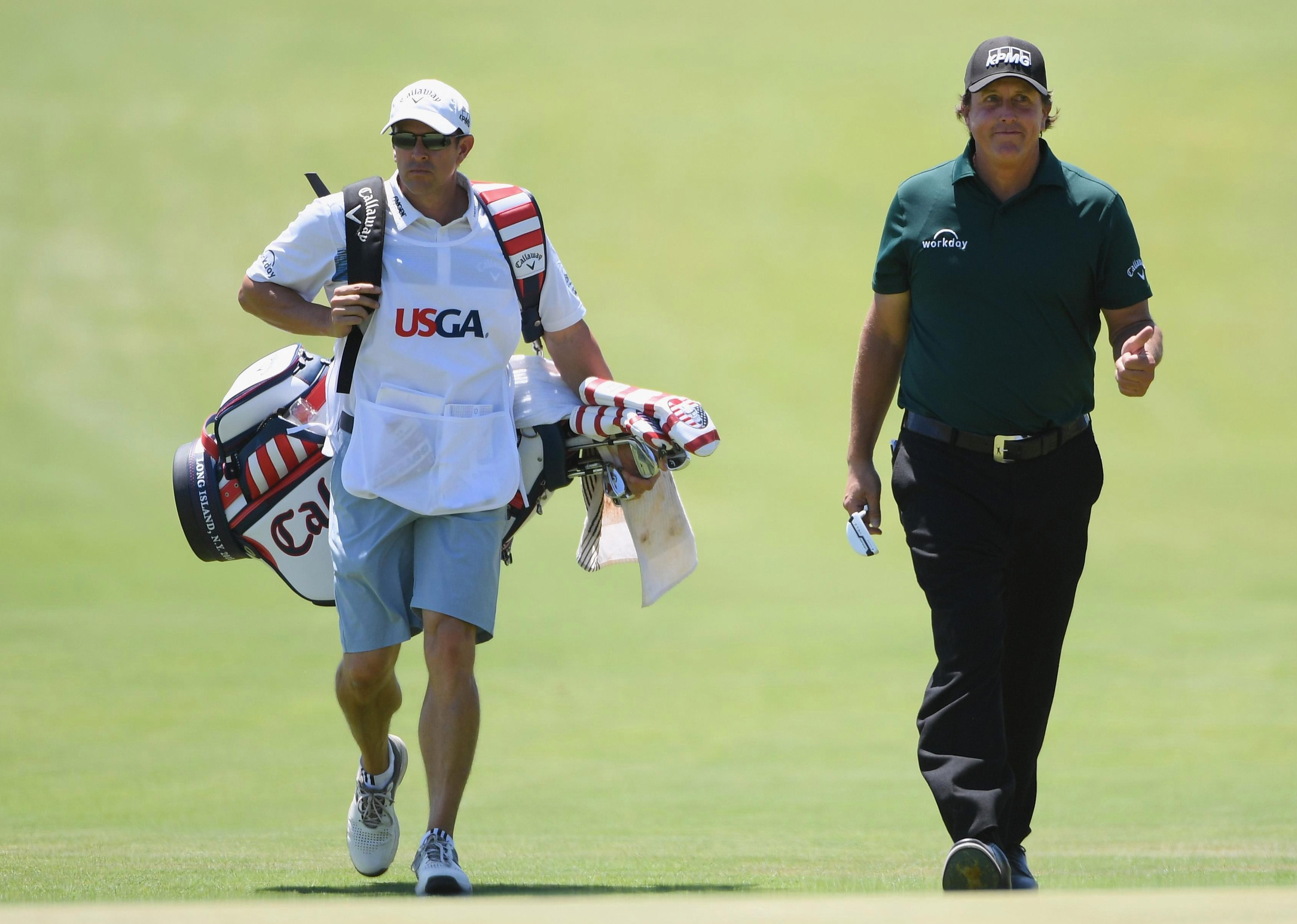 Brother Tim has been caddie for Phil full-time since December 2017