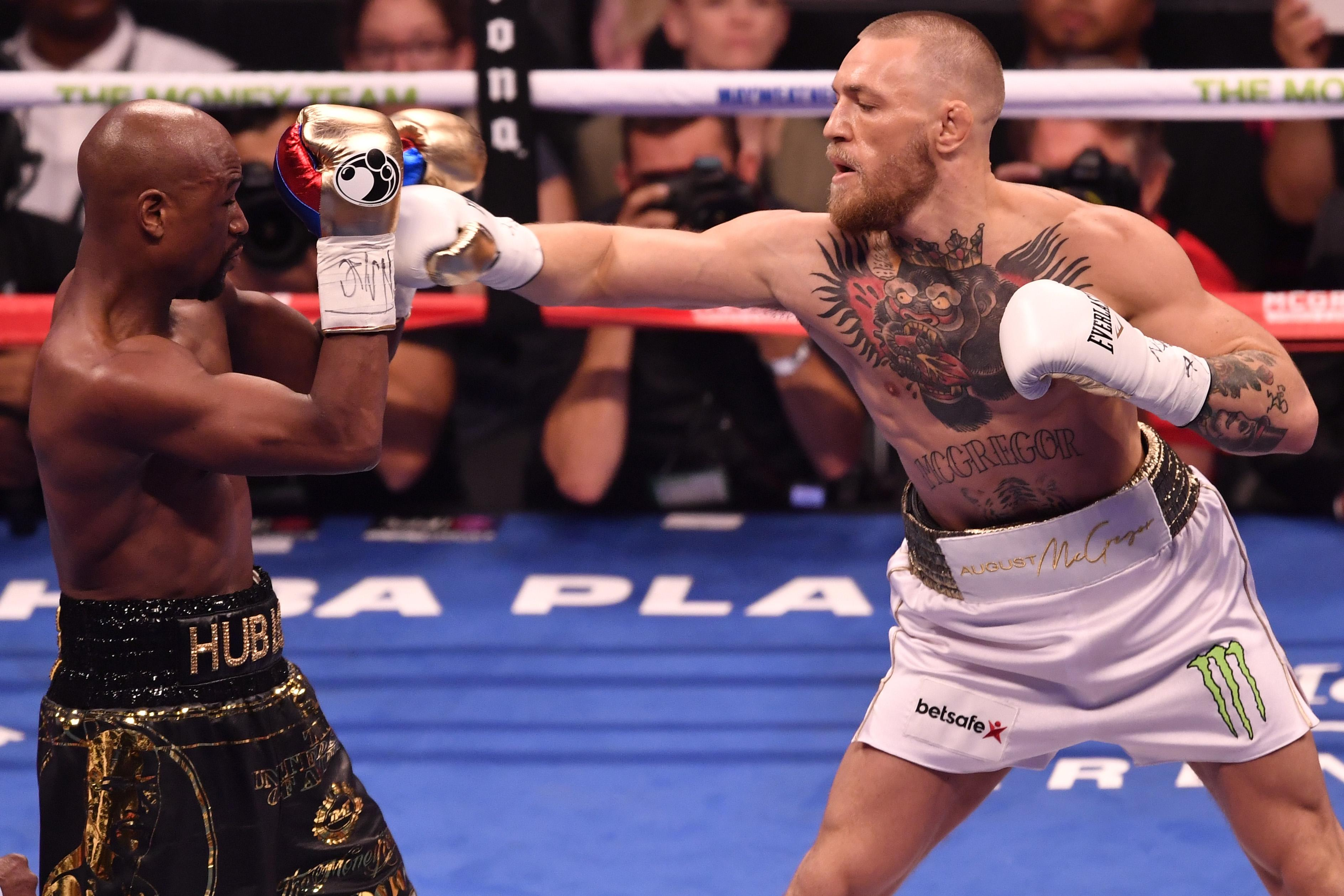 McGregor made his pro boxing debut against Mayweather in August 2017
