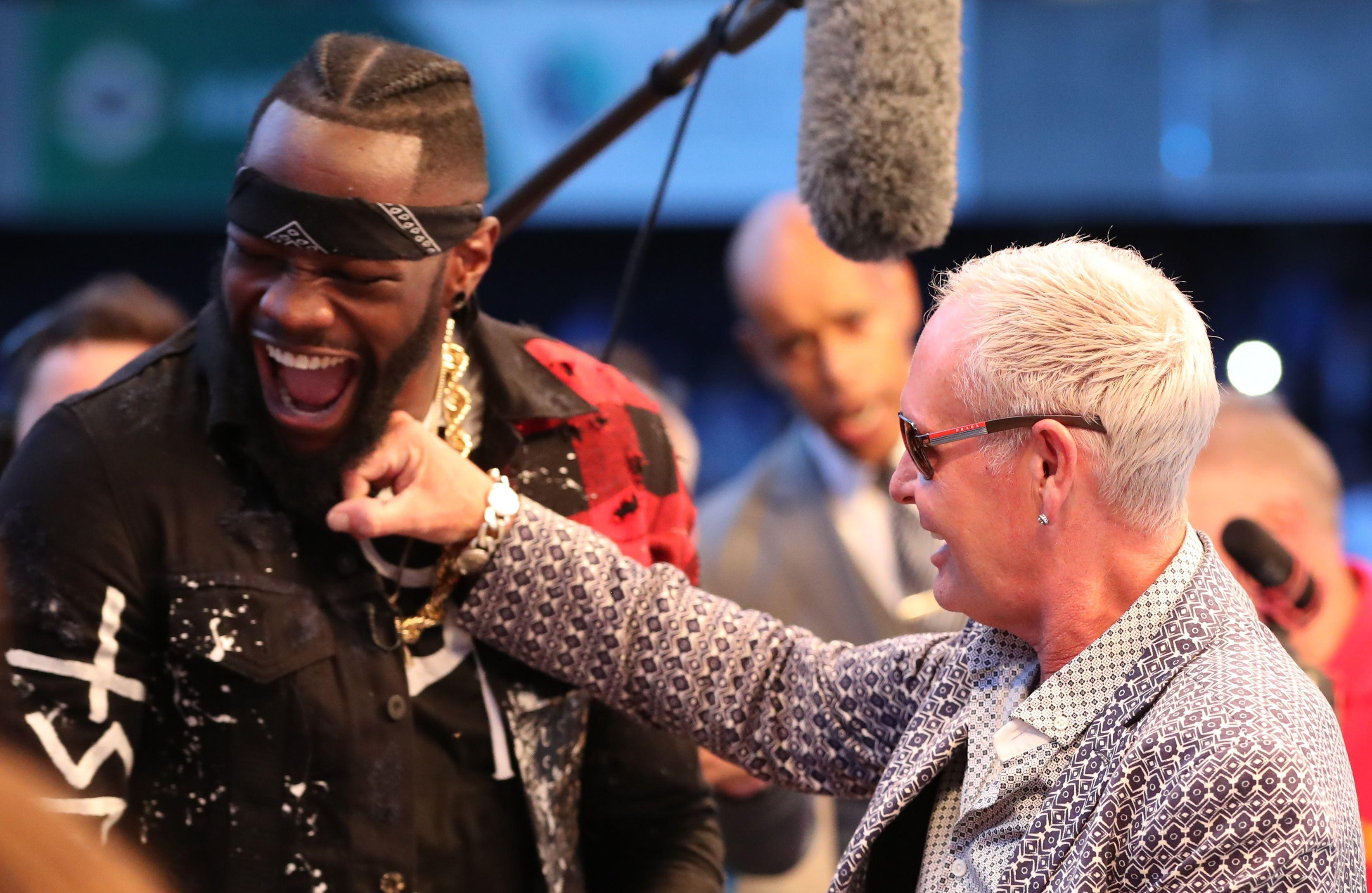 Gazza is a boxing fan and recently met WBC heavyweight king Deontay Wilder