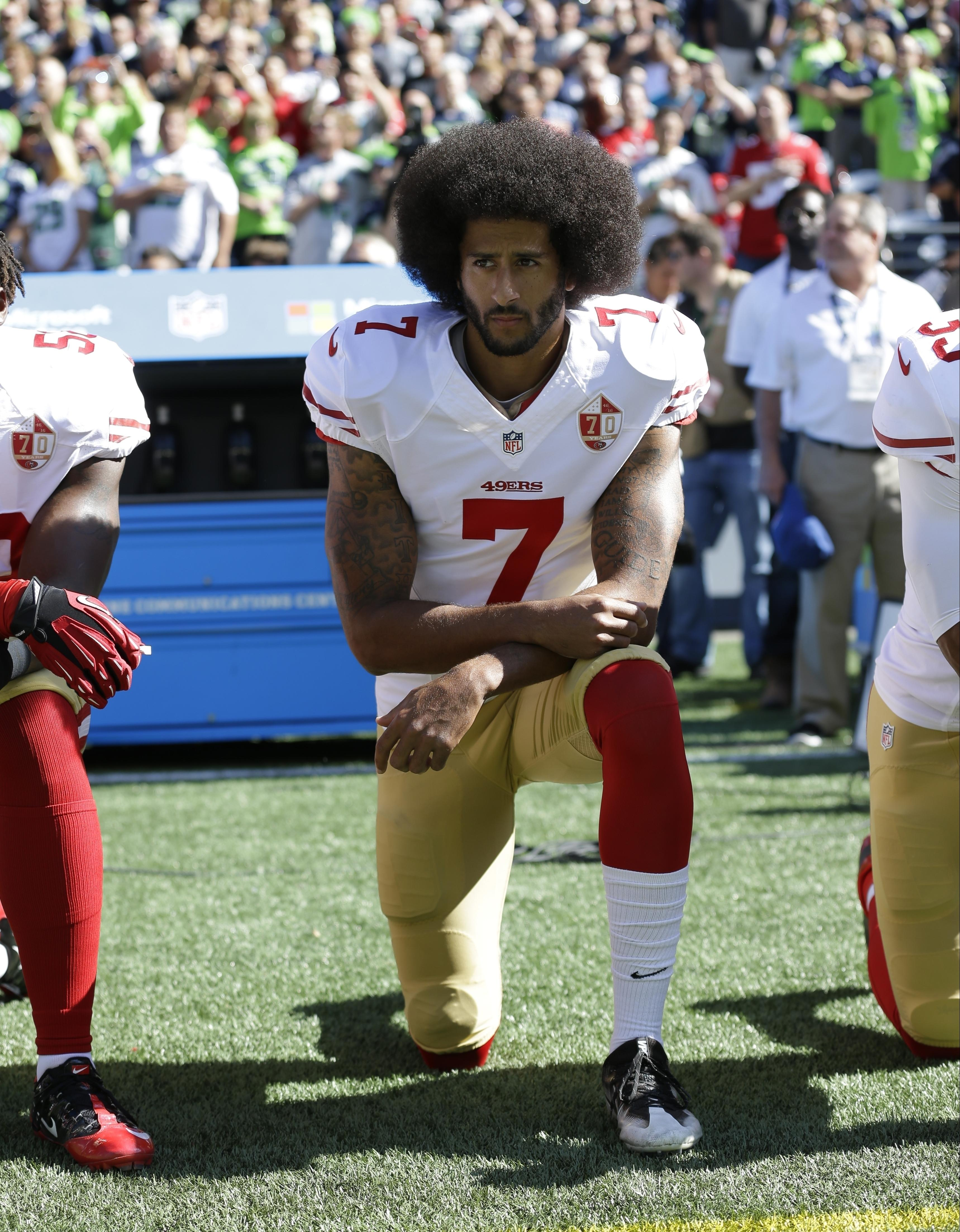 Colin Kaepernick was the first NFL star to kneel during anthems