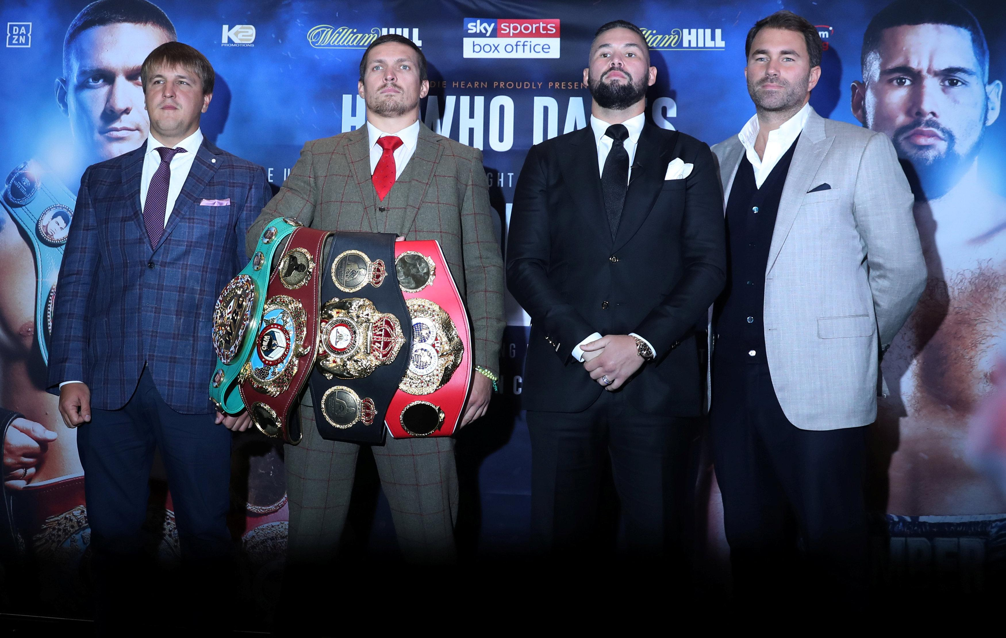 Tony Bellew will fight Oleksandr Usyk this Saturday in his final boxing bout