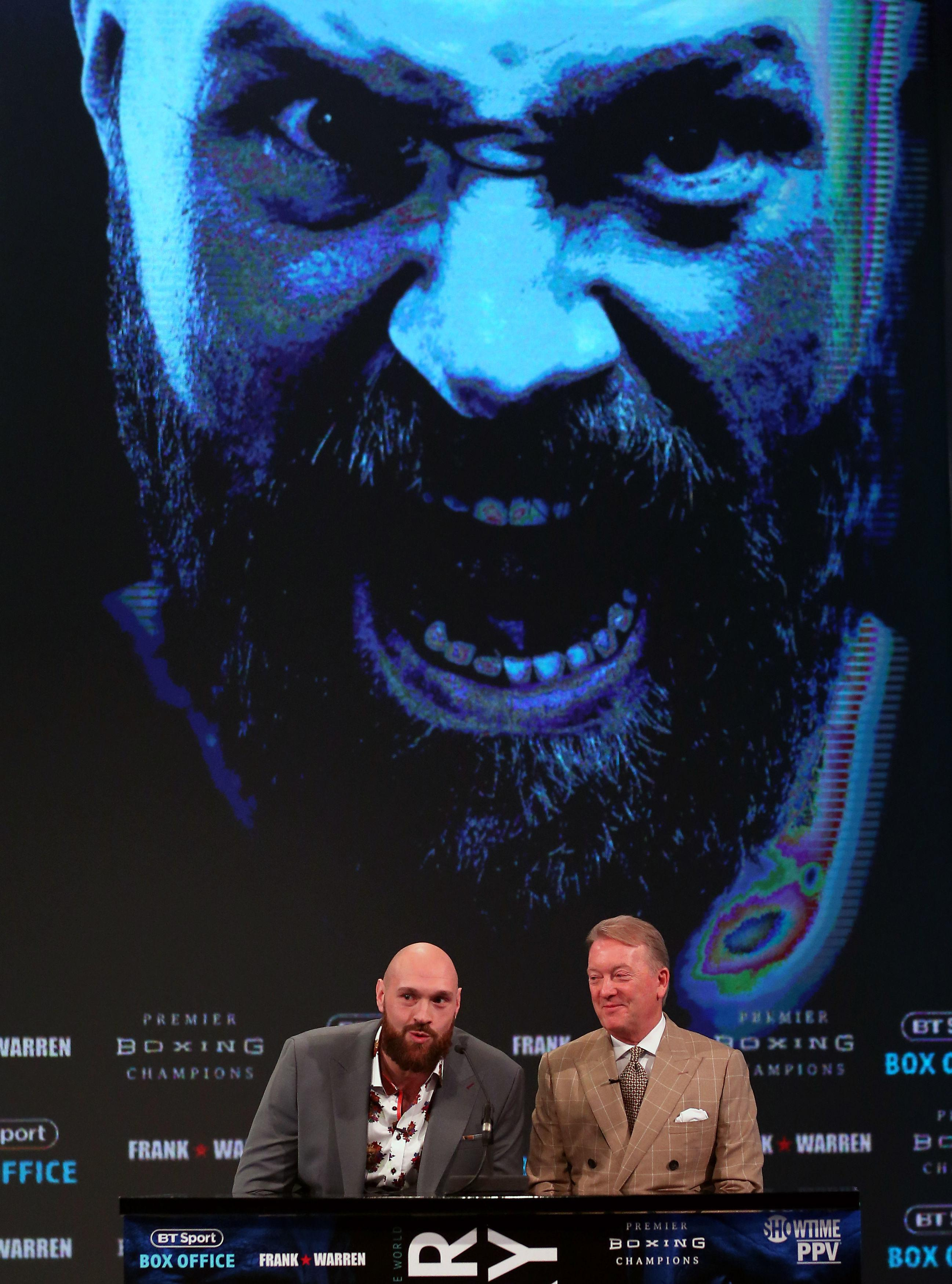 Warren and Fury have been taking press conferences ahead of the December 1 bout