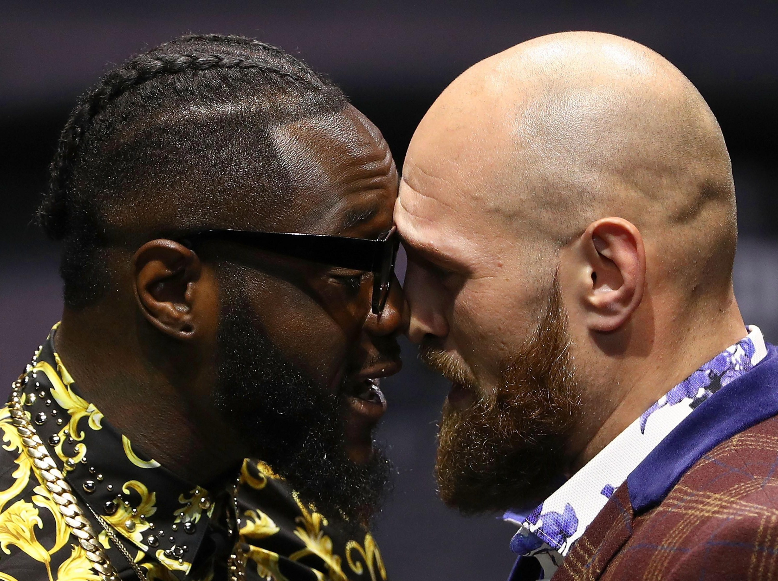 Deontay Wilder and Tyson Fury face each other in LA next Saturday