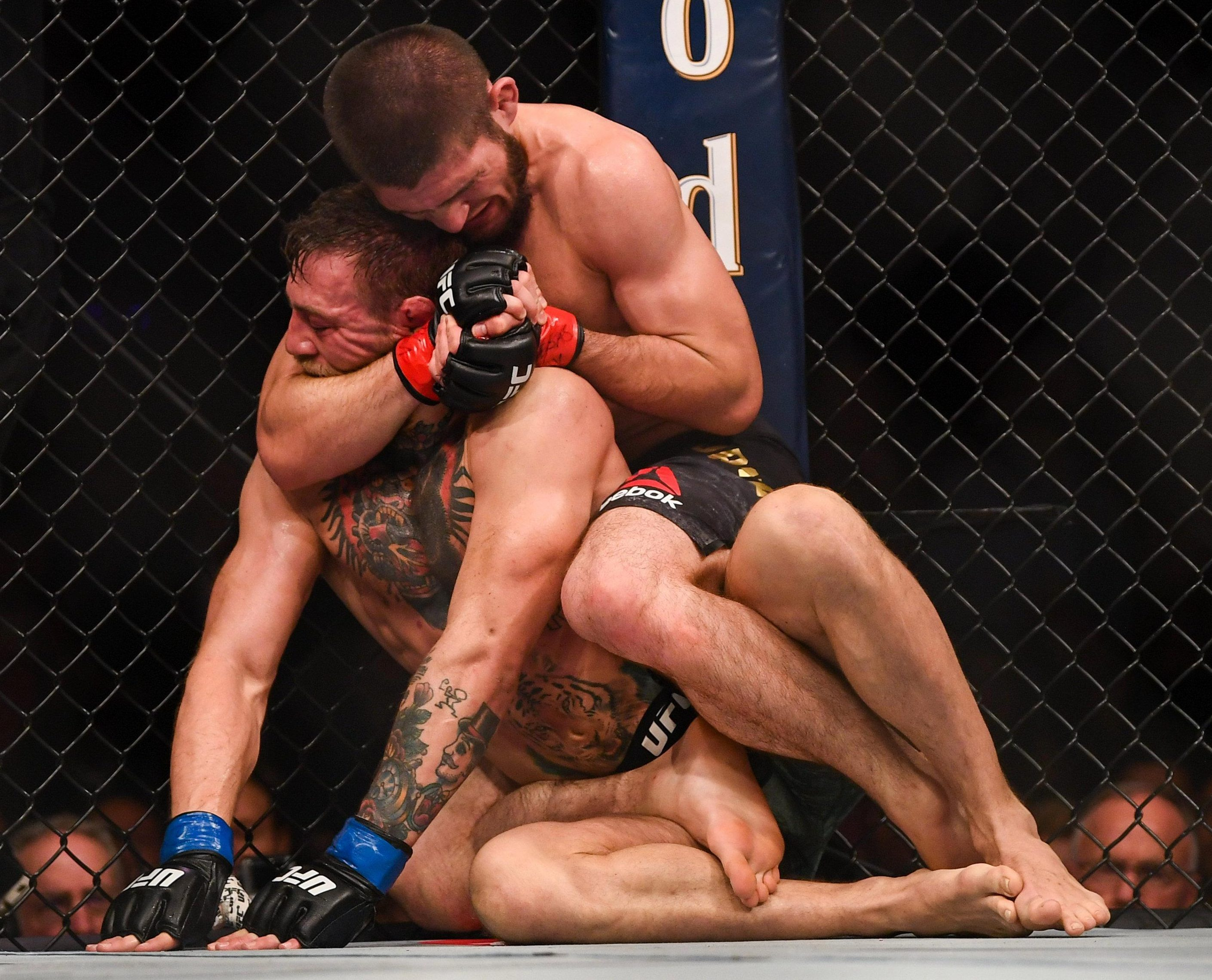Khabib Nurmagomedov clinched a win vs Conor McGregor with a rear naked choke