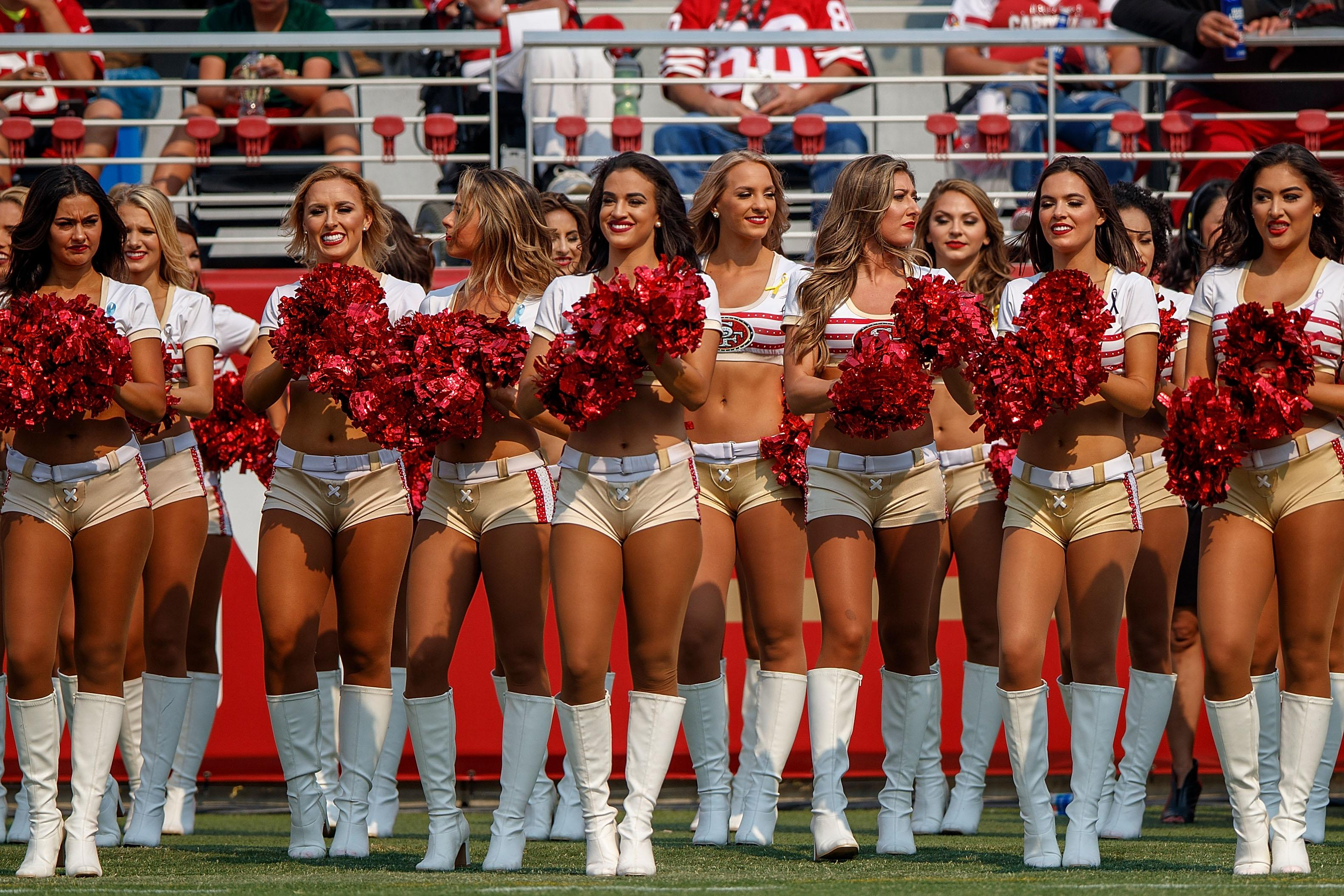 Cheerleaders are a traditional part of the NFL circus